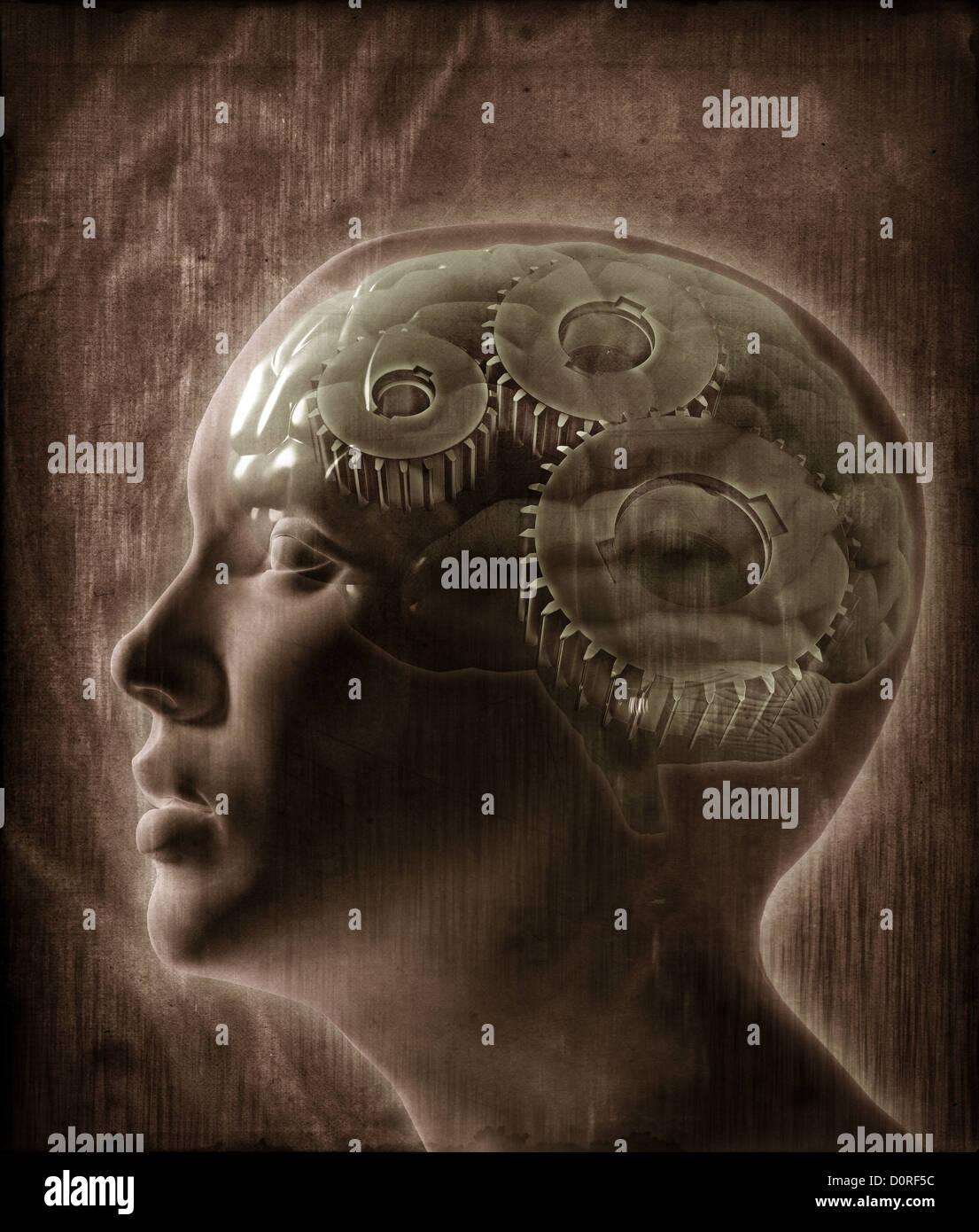 Menschliche Intelligenz Konzept Stockbild