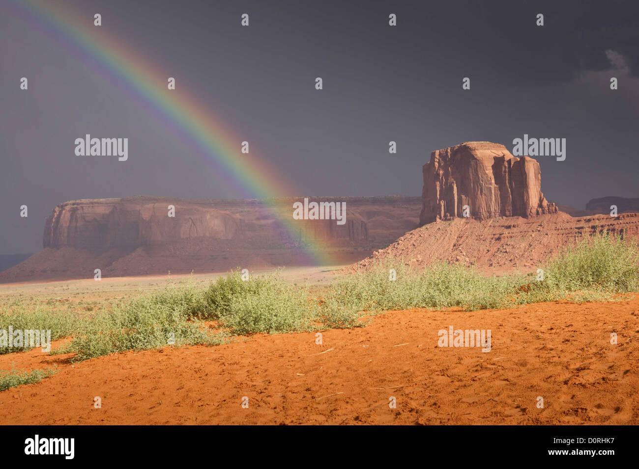 Ende des Regenbogens Stockbild