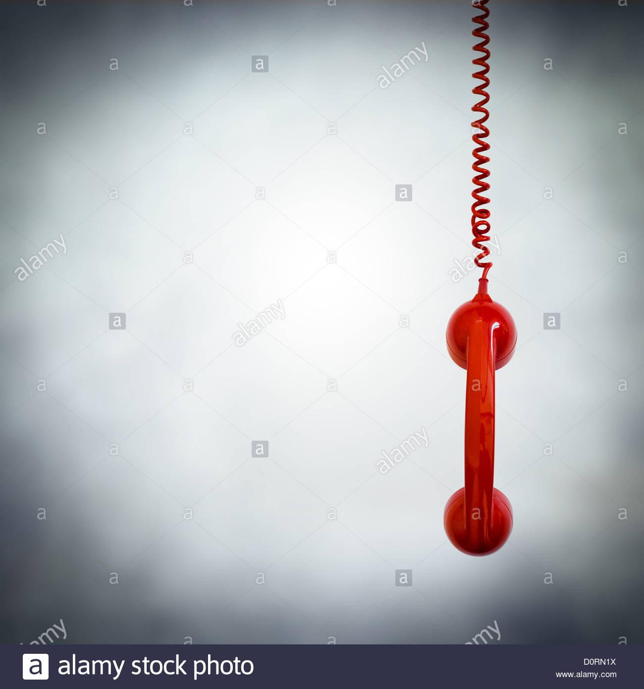 rote Telefon hängen Stockbild