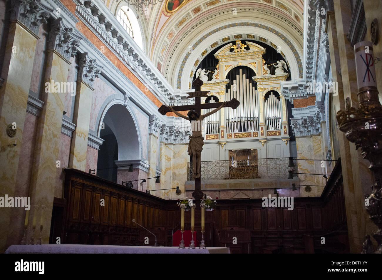 Jerusalem, Israel. 30. November 2012. Im spanischen Stil, 16. Jh., Kirche des Heiligen Erlösers Kloster. Jerusalem, Stockbild