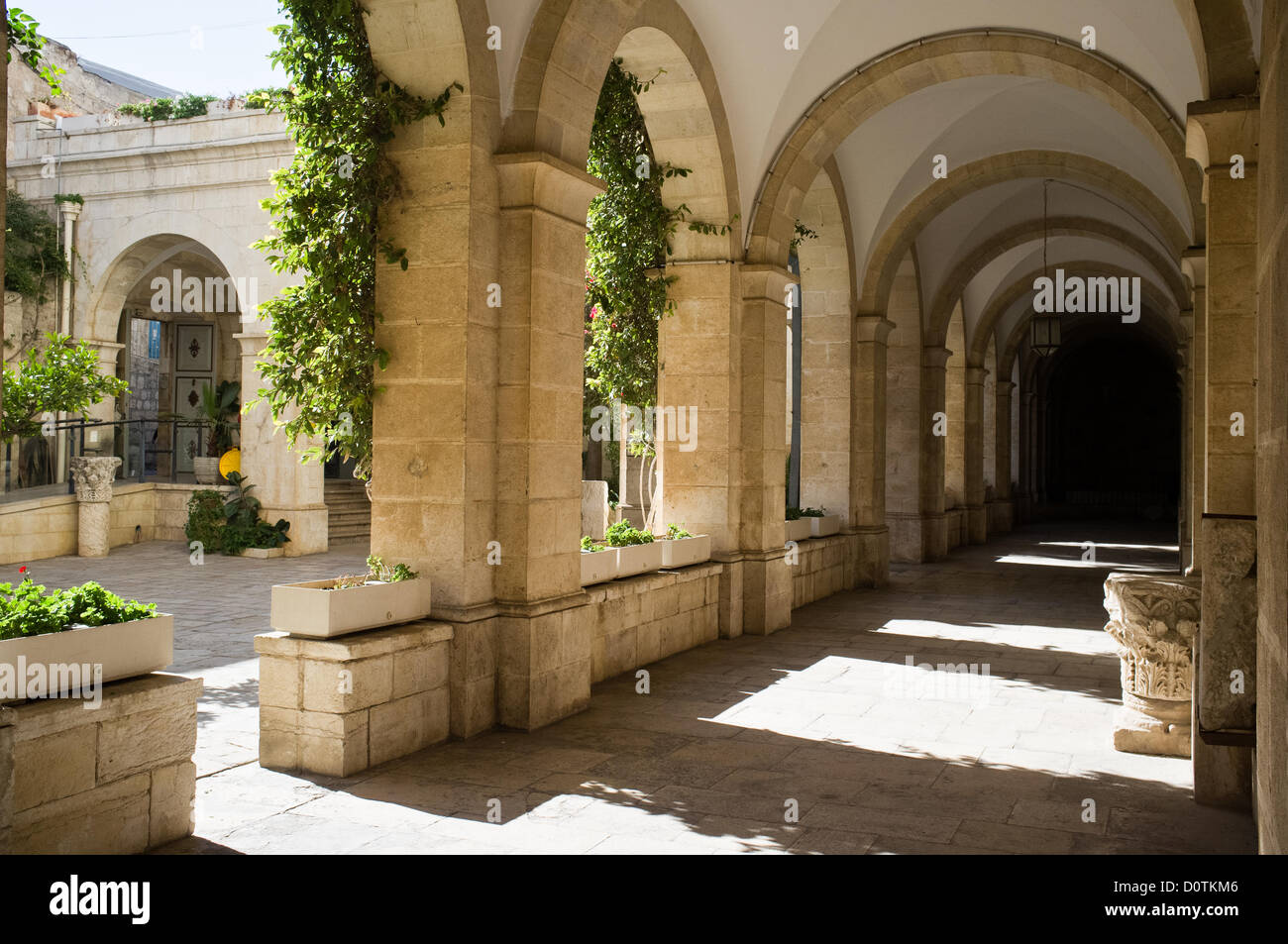 Jerusalem, Israel. 30. November 2012. Geißelung Kloster der Franziskaner-Hof in der zweiten Station der Via Stockbild