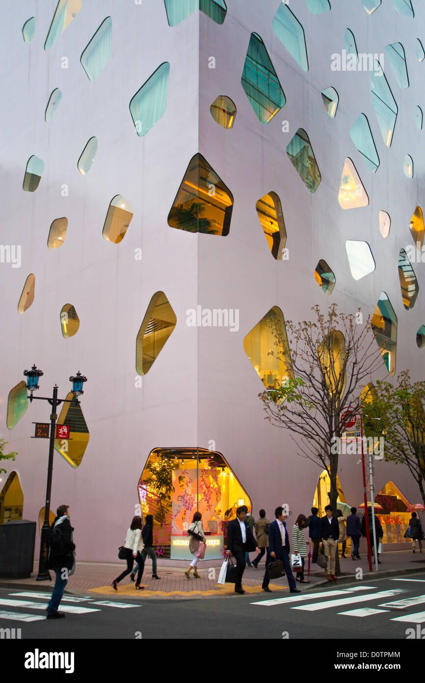 Japan, Asien, Urlaub, Reisen, Tokio, Stadt, Ginza, Bezirk, Architektur, Innenstadt, Modern, Lampe, shopping Stockbild