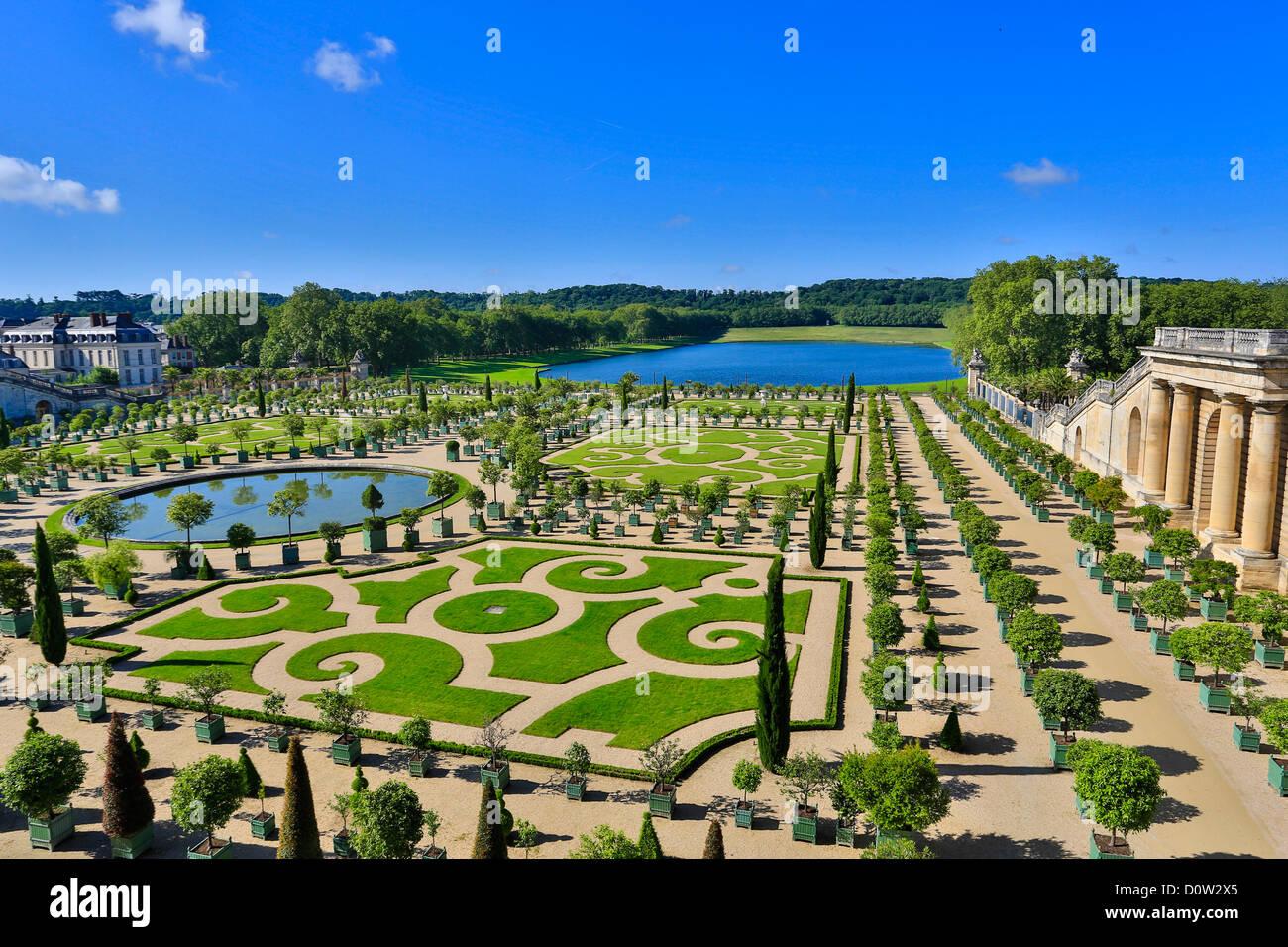 Frankreich, Europa, Reisen, Versailles, Weltkulturerbe, Gärten, Detail, Architektur, Burg, Geschichte, Tourismus, Stockbild