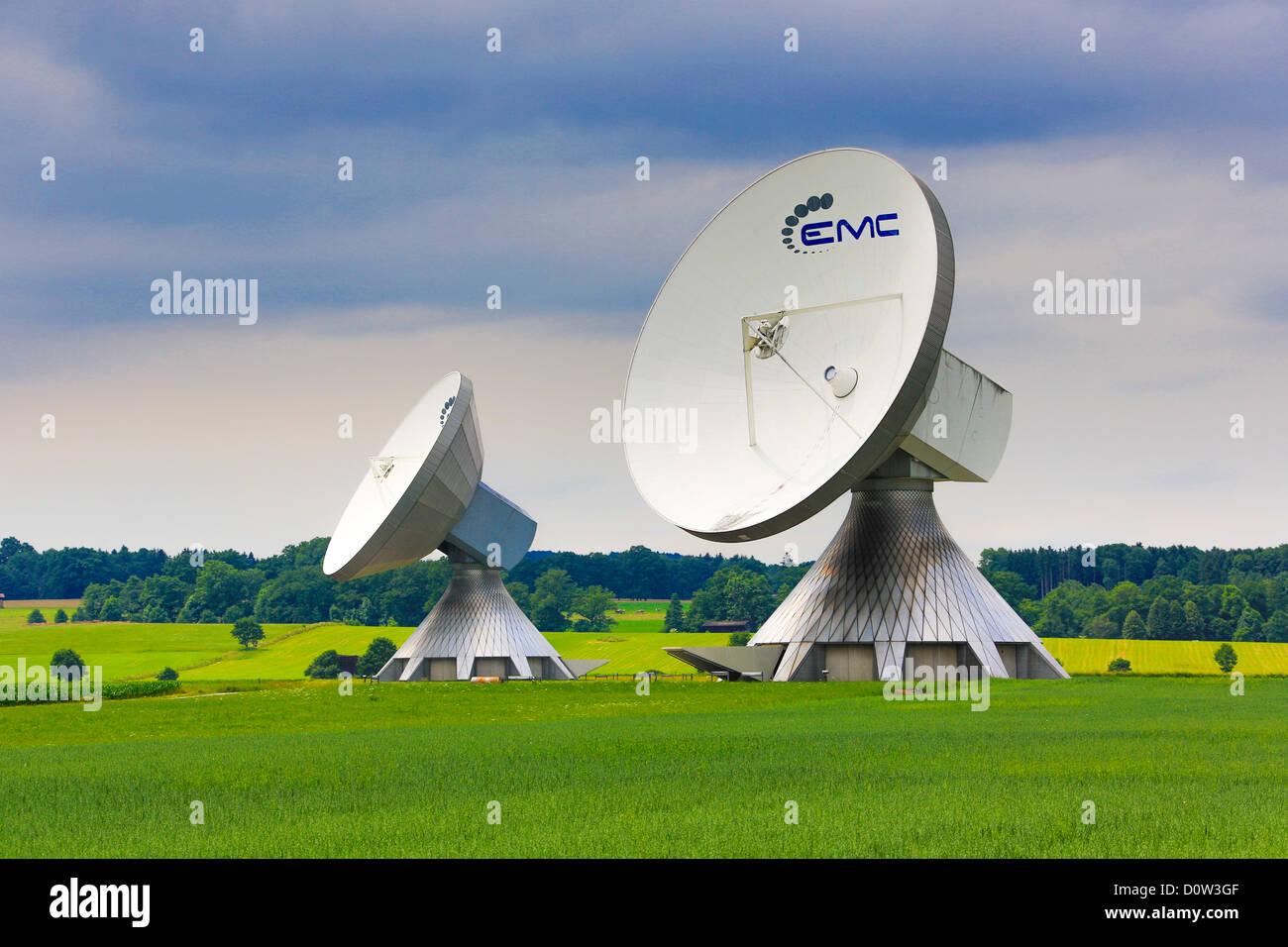 Deutschland, Europa, Reisen, Antennen, Garching, Bayern, bunte, Kommunikation, Radio, Technik Stockbild