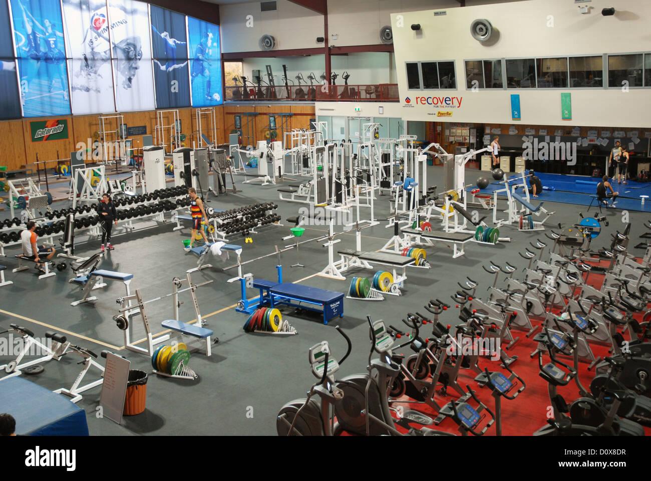 Fitness-Studio, das Australian Institute of Sport (AIS), Australien,  Canberra, ACT Stockfotografie - Alamy