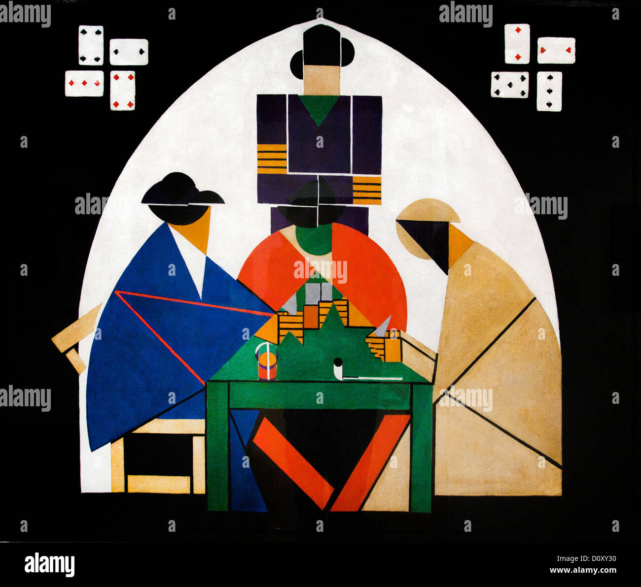 Die Karte Spieler 1916 Theo van Doesburg, Niederlande Niederlande Stockbild