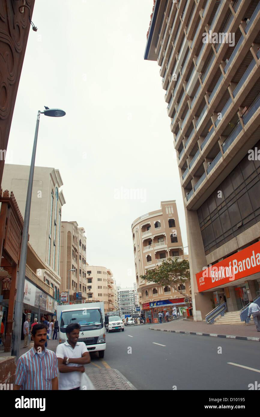 Redaktionelle Fotos für die Bank of Baroda in Dubai, Vereinigte Arabische Emirate Stockbild