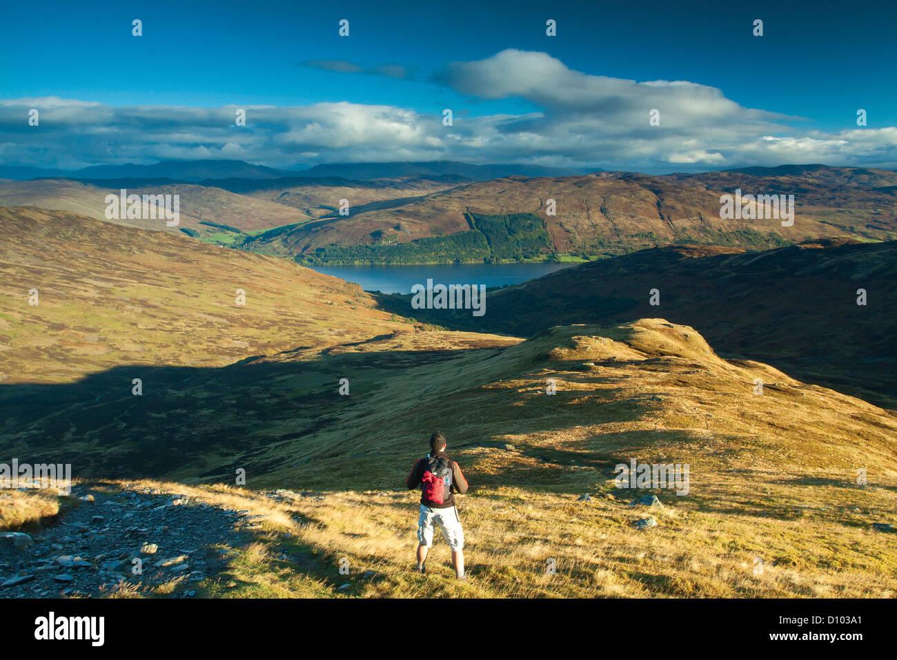 Loch Earn von Ben Vorlich Stockbild