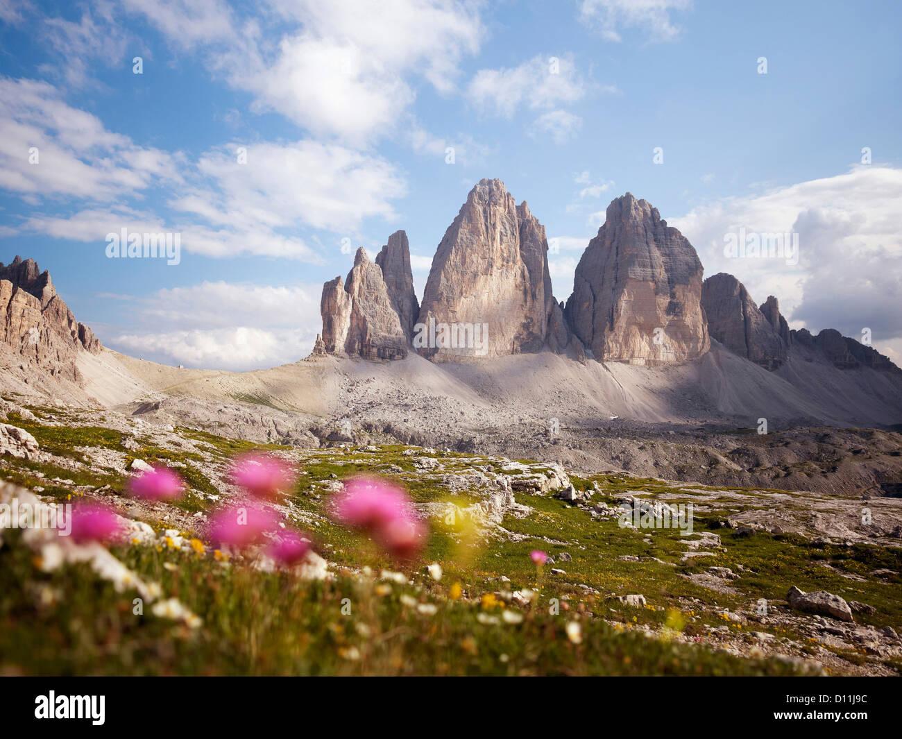 Italien, Blick auf Nationalpark der Sextner Dolomiten Stockbild