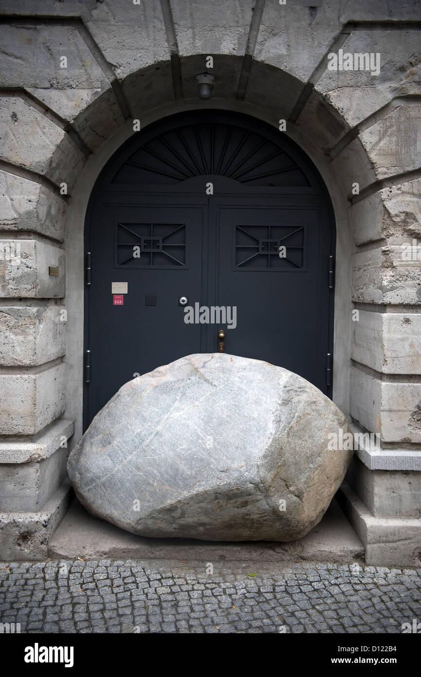 Der tur  Berlin, Deutschland, liegt vor der Tür des Bunkers in der ...