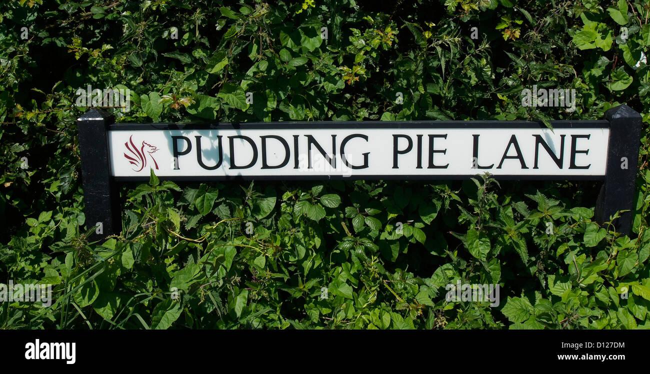 Pudding Kuchen Lane Straßennamen in das Dorf von Churchill, North ...