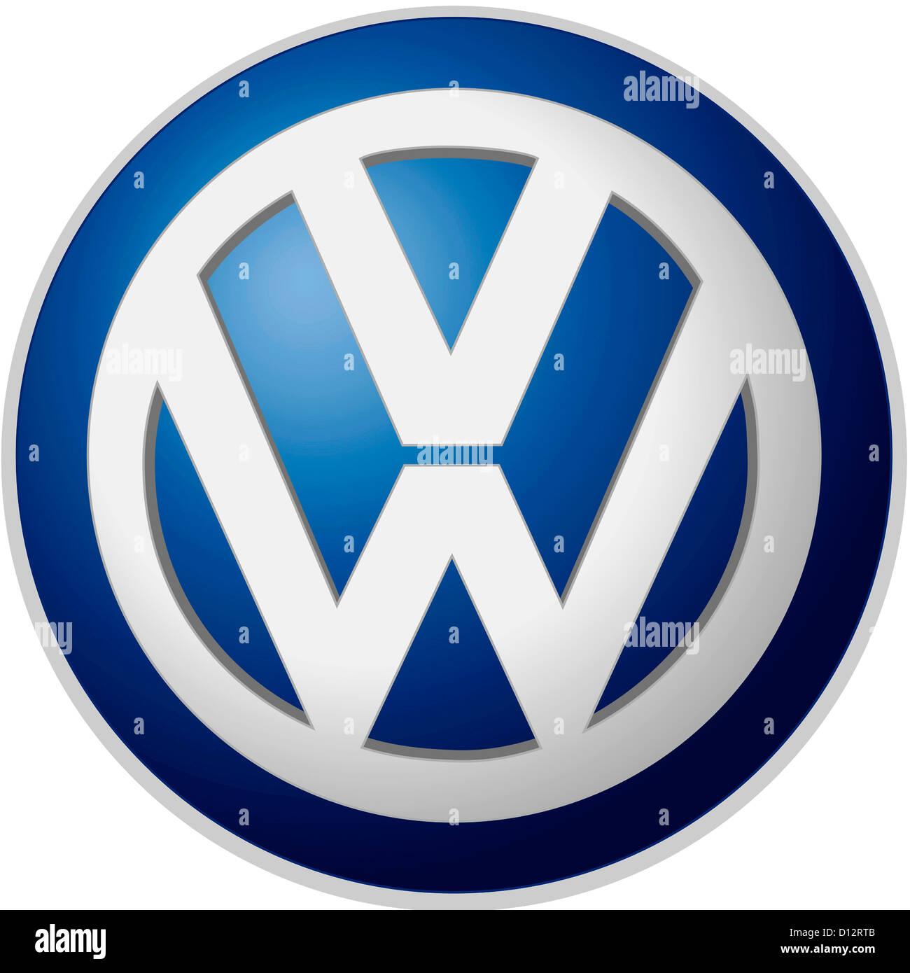 firmenlogo der deutschen automotive corporation volkswagen ag mit sitz in wolfsburg stockfoto. Black Bedroom Furniture Sets. Home Design Ideas