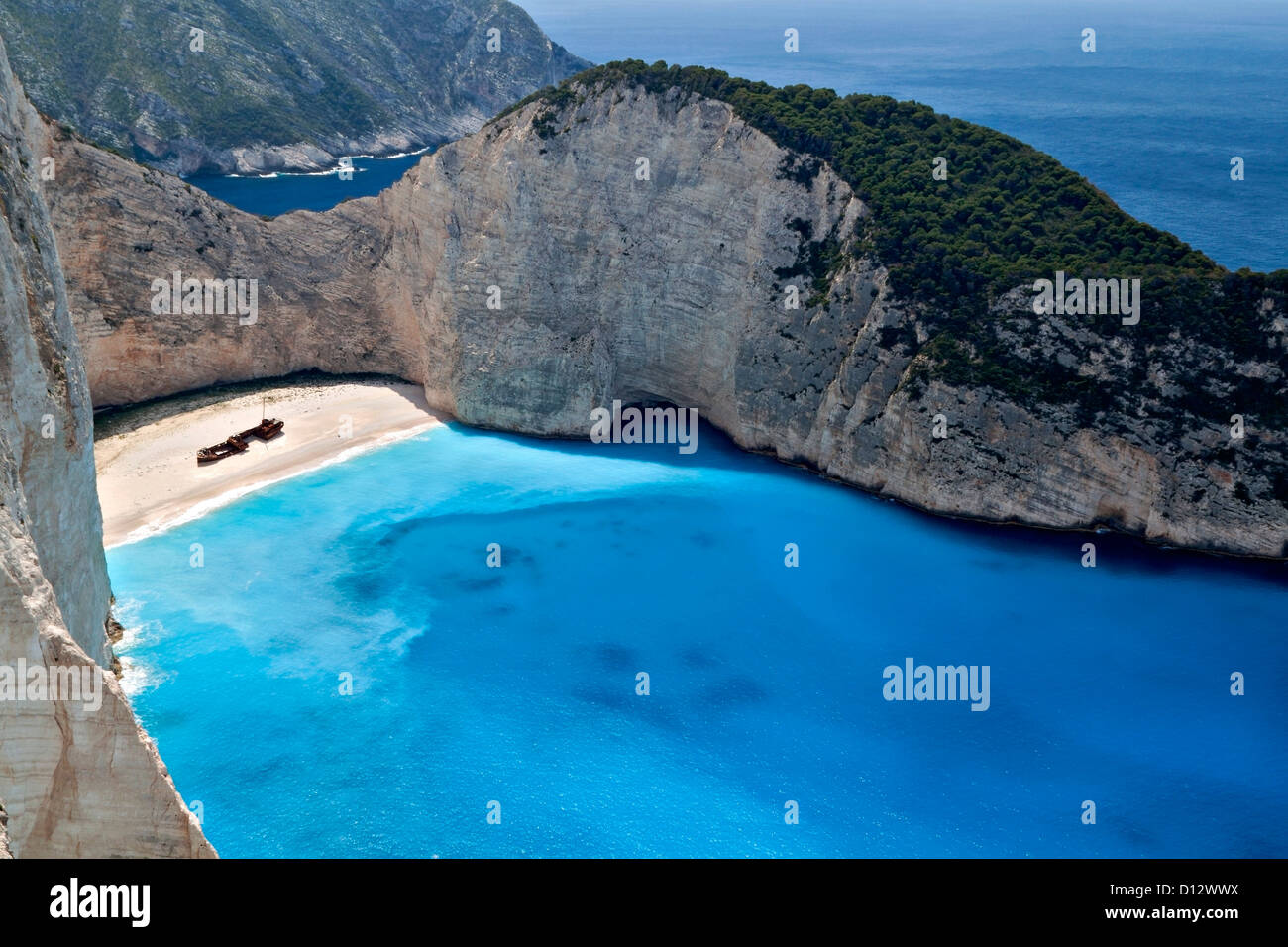 navagio strand in zakynthos insel in griechenland stockfoto bild 52309990 alamy. Black Bedroom Furniture Sets. Home Design Ideas