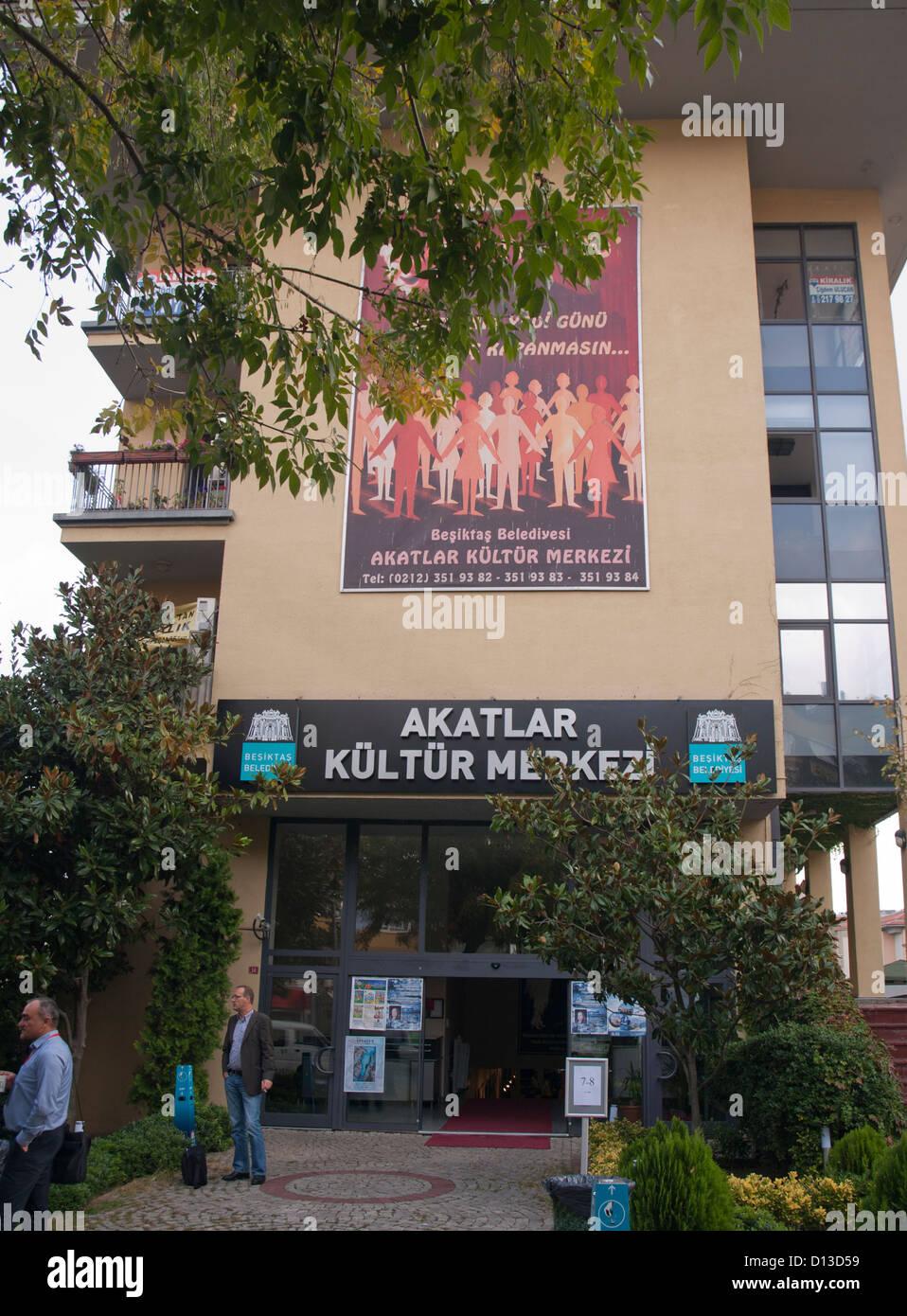 Akatlar Kultur Merkesi, Kulturzentrum in Besiktas Istanbul Türkei Stockbild