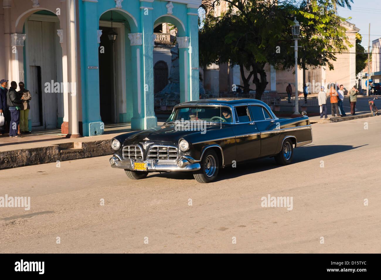Oldtimer Auto, Provinz Santa Clara, Kuba Stockbild