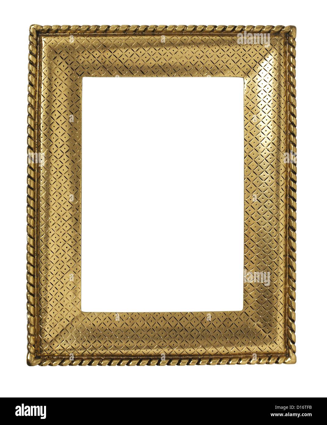 Bronze gold Metall-finish Bilderrahmen Stockbild