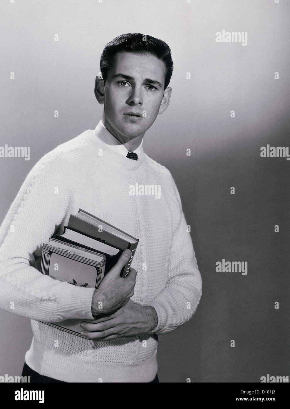 Student, Schuljunge, vintage Stockbild
