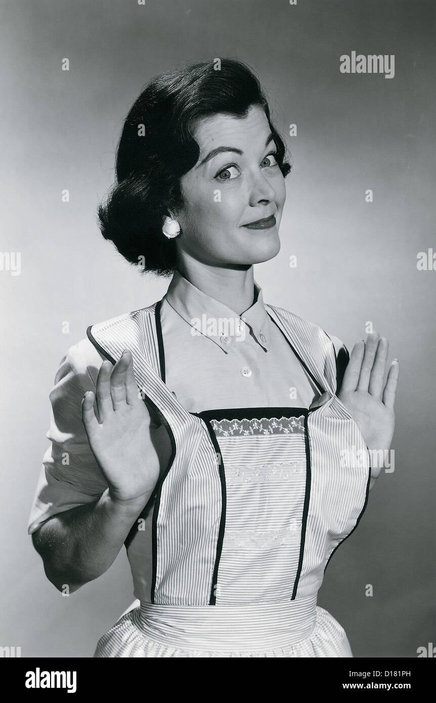 Hausfrau, vintage Stockbild