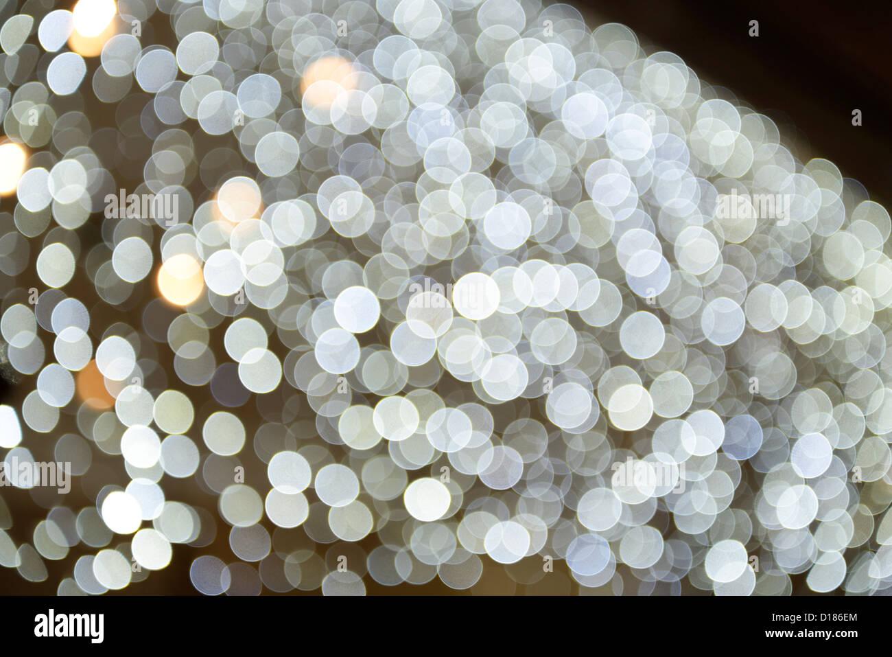 Abstrakte weiße Lichter Stockbild