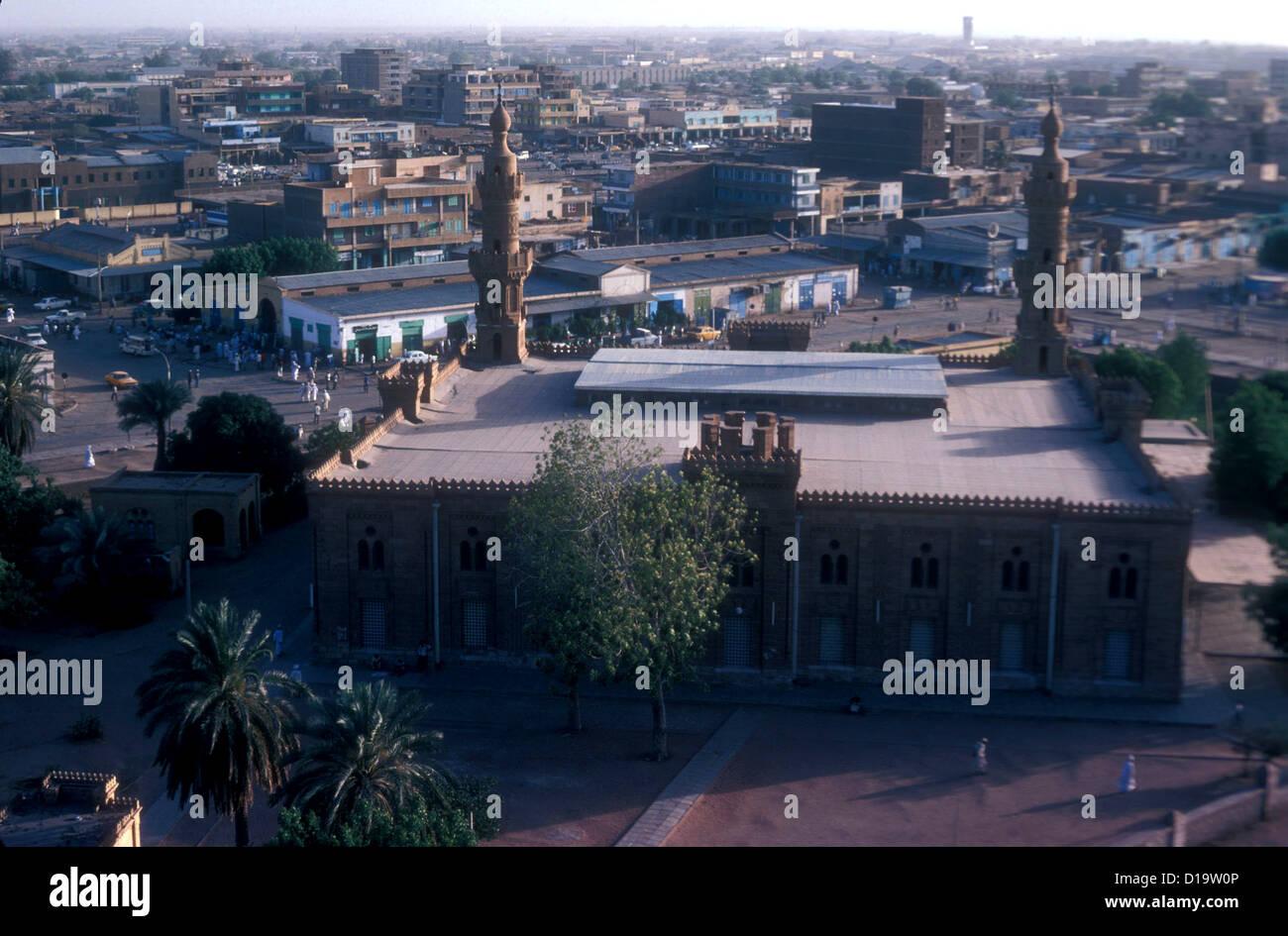 Zentralmoschee Khartum im Jahr 1981 Stockbild