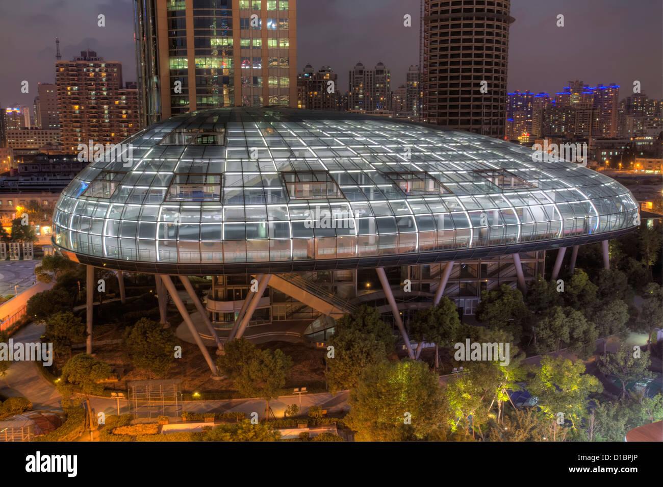 Die internationalen Kreuzfahrt-Terminal, Shanghai, China. Stockbild