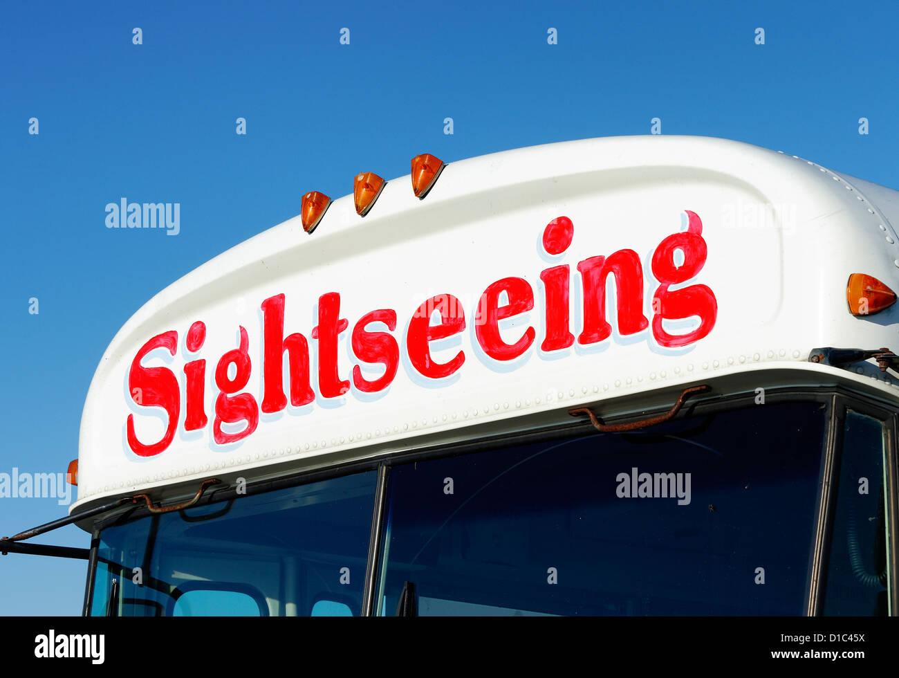 Sightseeing-Bus. Stockbild