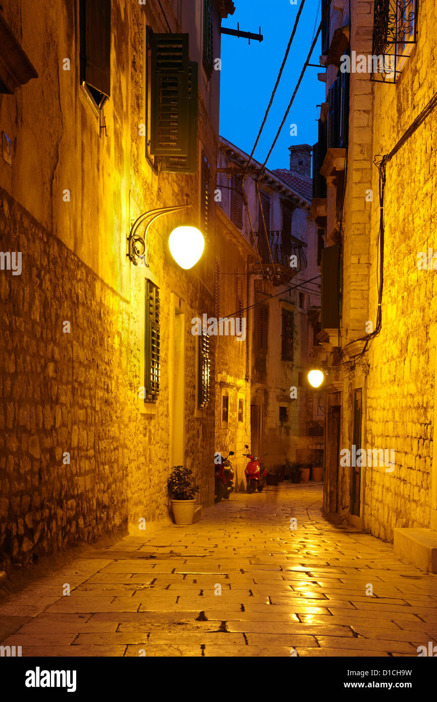 Die Altstadt in Sibenik, Kroatien, Europa Stockbild