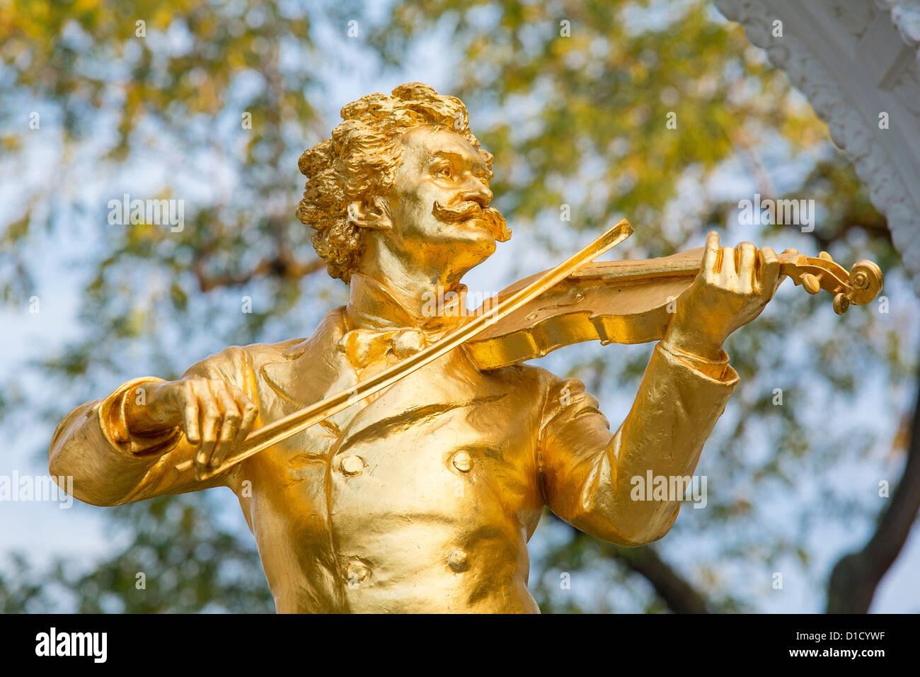 Strauss-Denkmal im Stadt-Park, Wien, Österreich, Europa Stockbild