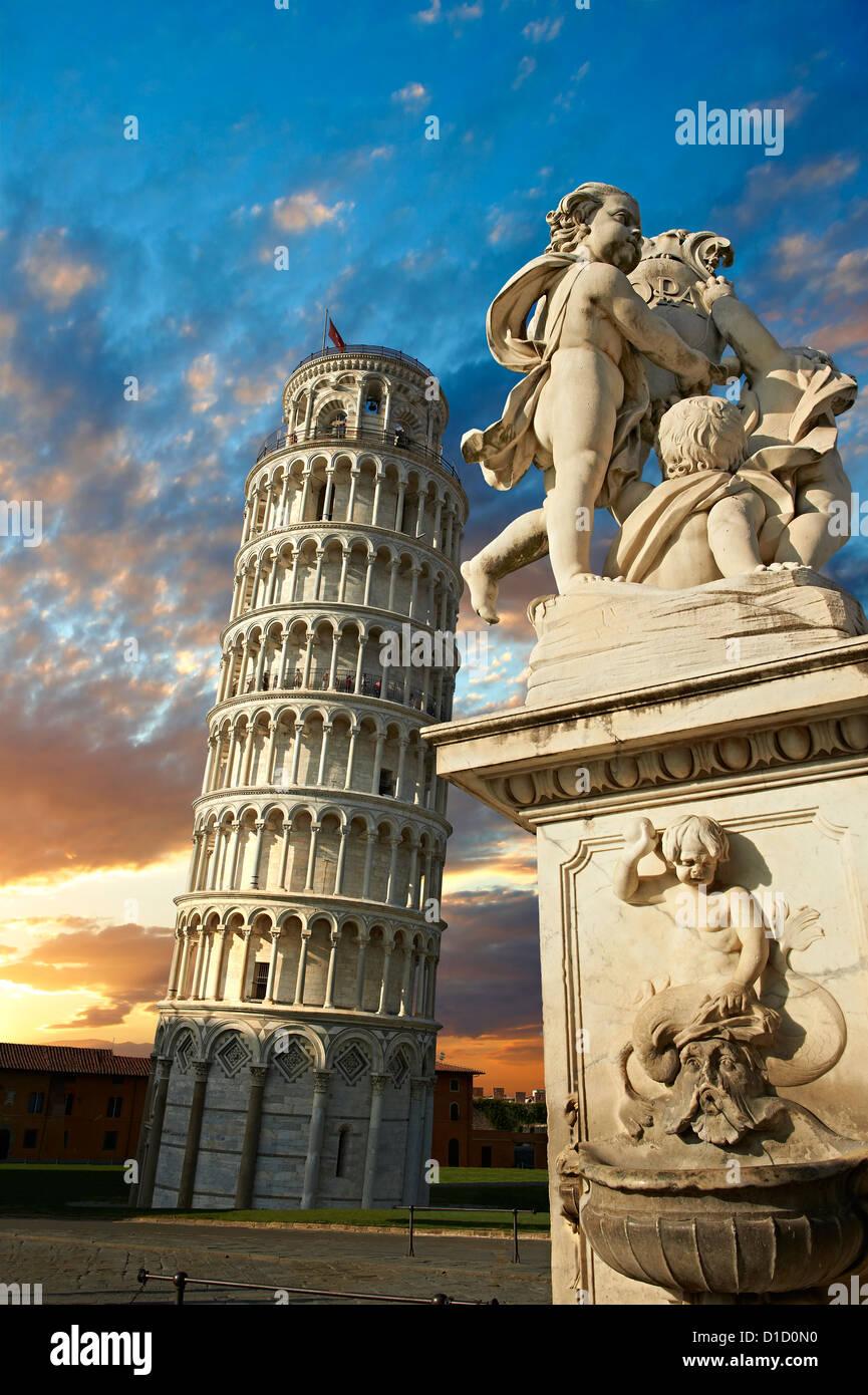 Der schiefe Turm von Pisa, Italien Stockbild