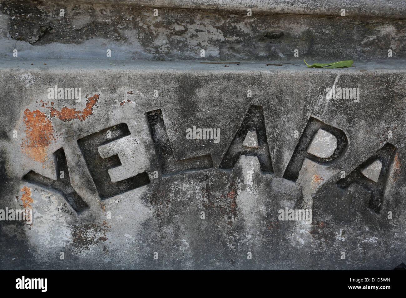 Ein Schild am Eingang zum Dorf Yelapa, Jalisco, Mexiko. Stockbild
