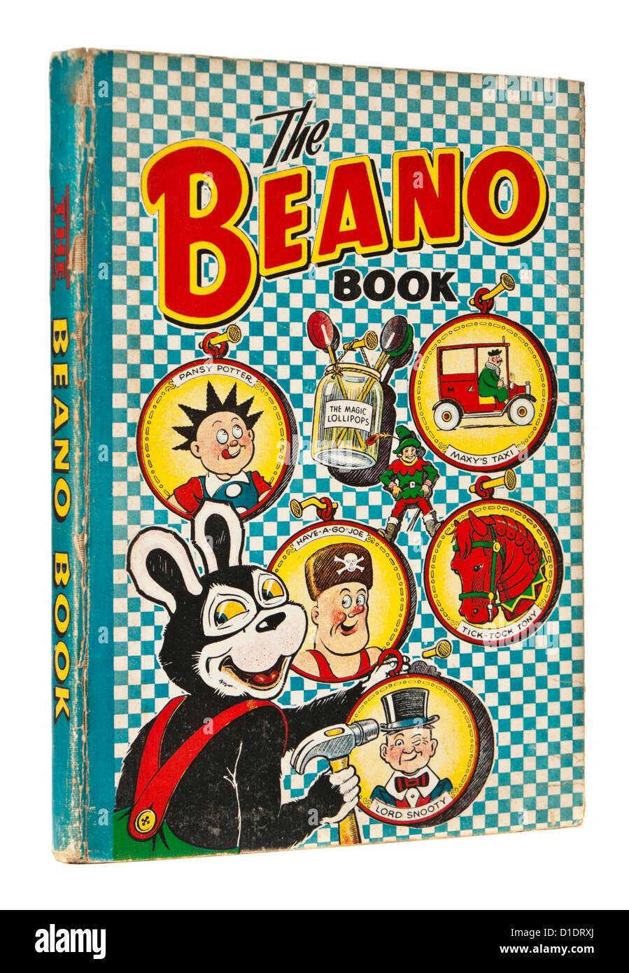 Seltene 1952 Beano jährliche durch DC Thomson & Co, mit Biffo der Bär, Herrn hochnäsig, Stiefmütterchen Stockbild