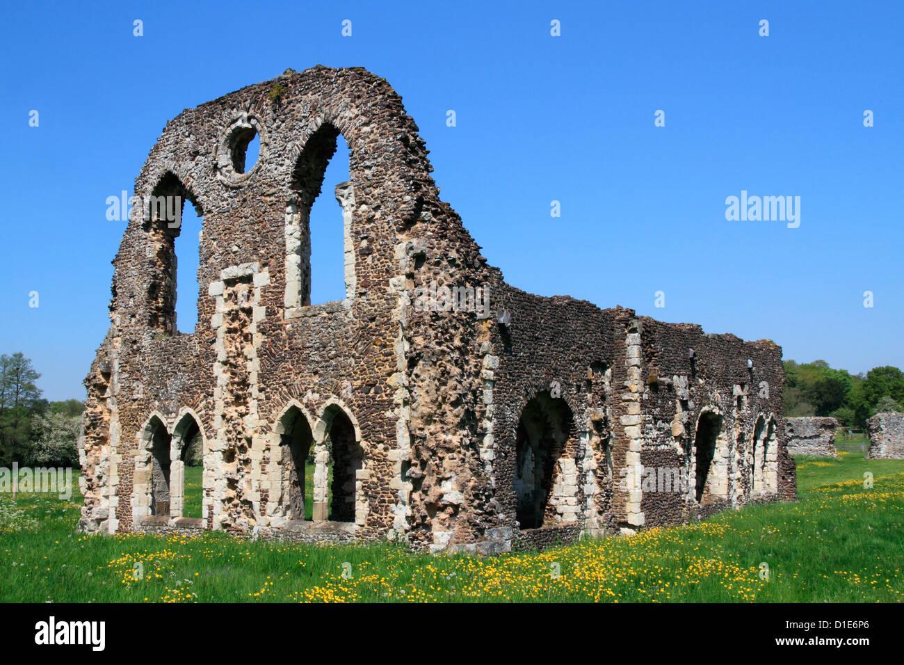 Waverley Abtei, in der Nähe von Farnham, Surrey, England, Vereinigtes Königreich, Europa Stockbild