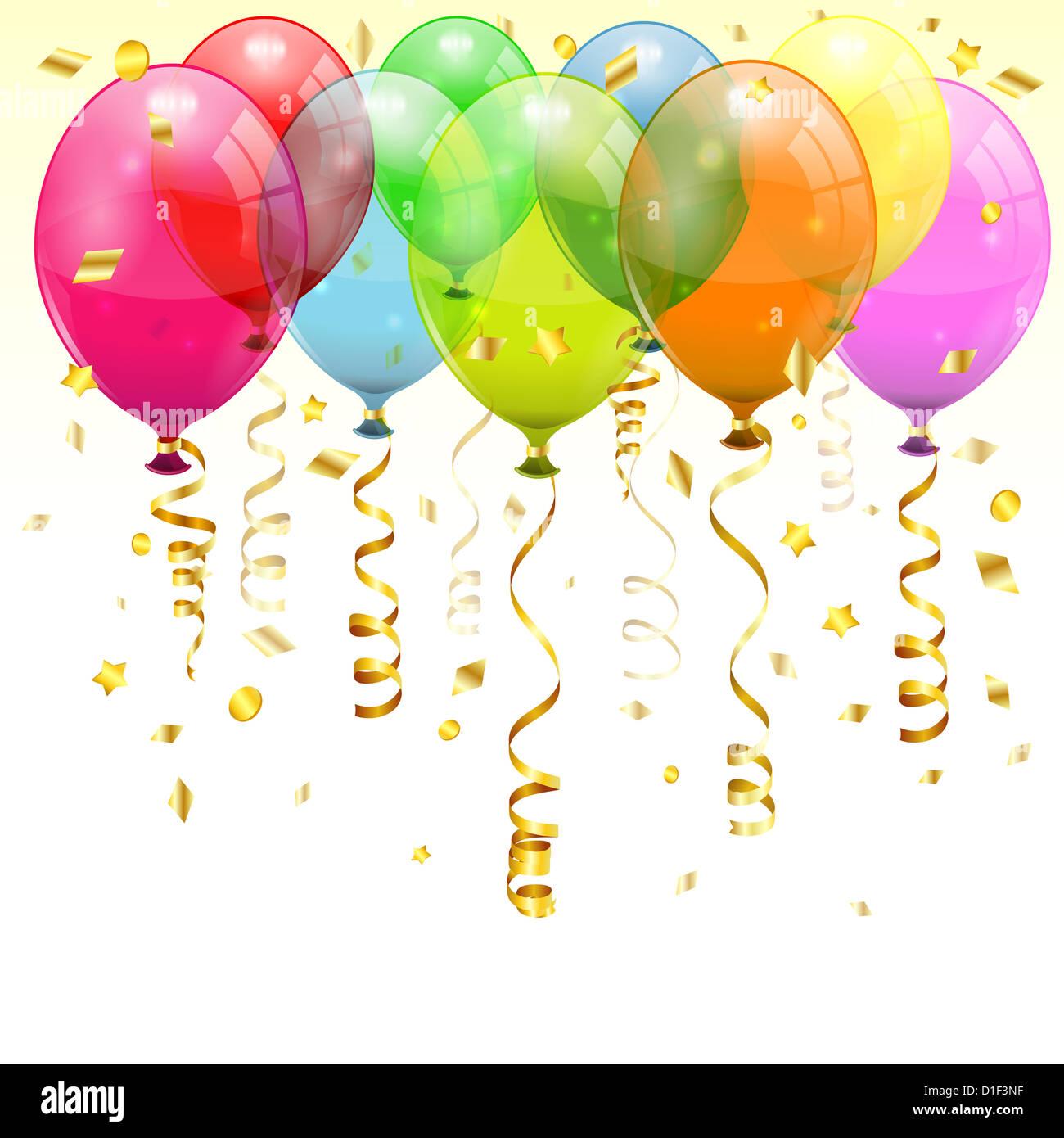 Geburtstag Hintergrund Mit 3d Transparent Geburtstag Luftballons Und