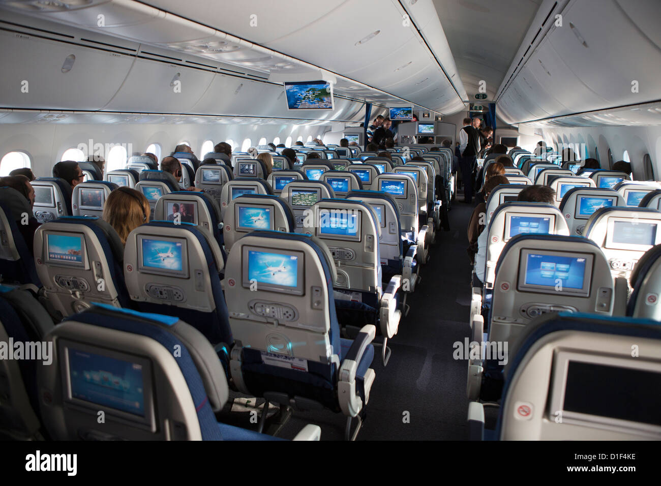 Interieur, Boeing 787 Dreamliner Stockfoto, Bild: 52578722 - Alamy