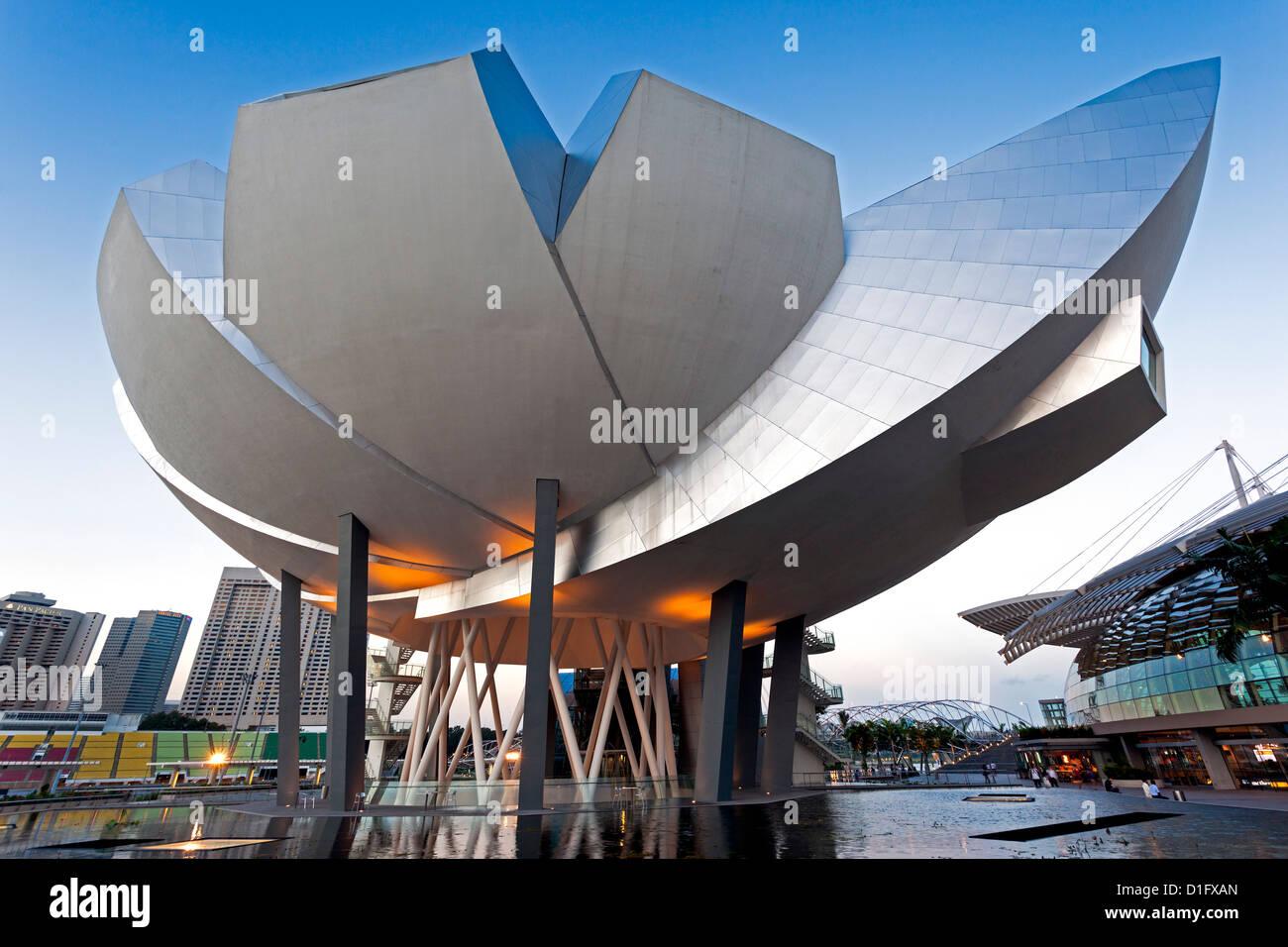 Museum für Kunst-Wissenschaft, Marina Bay, Singapur, Südostasien, Asien Stockbild
