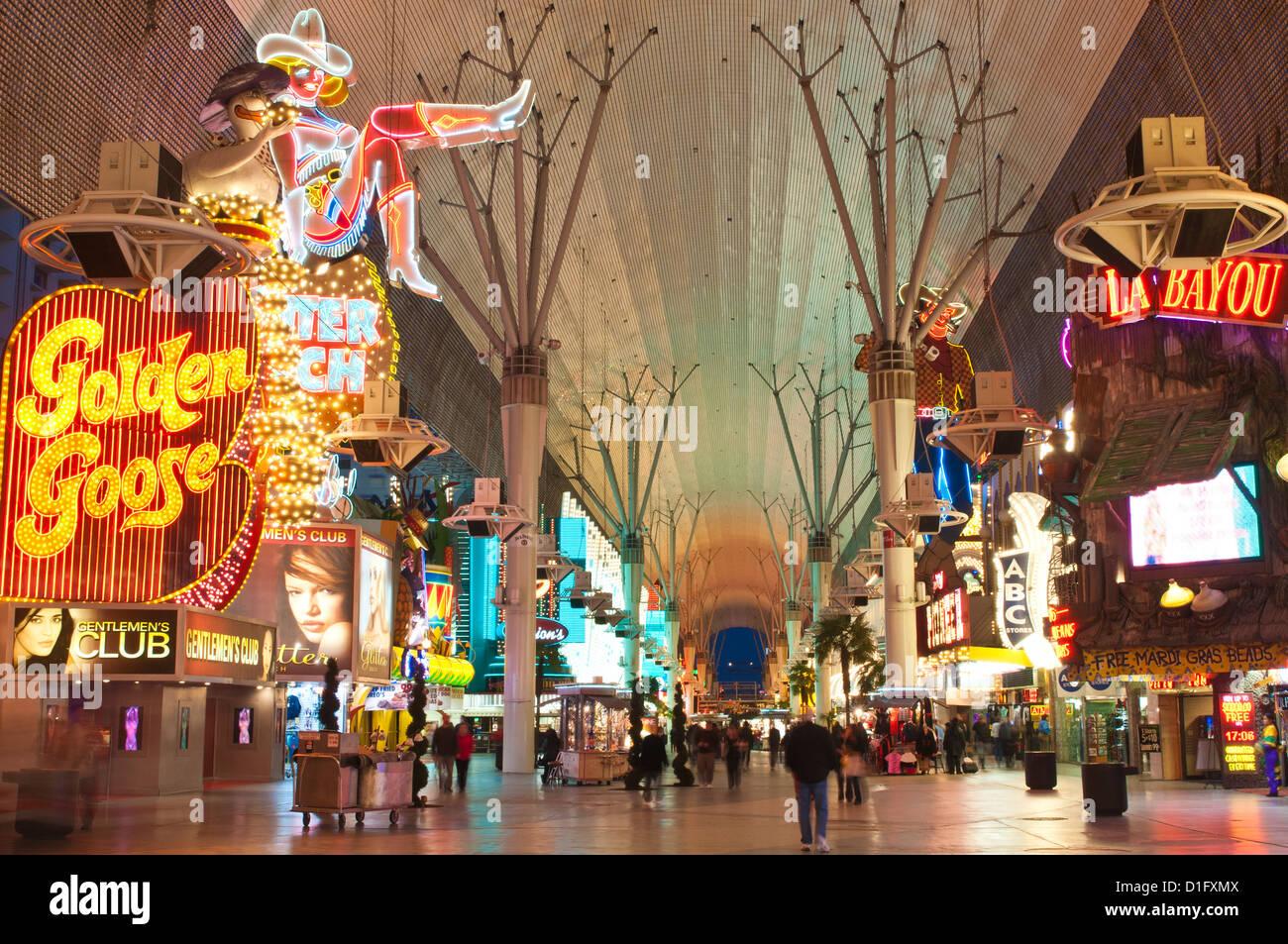 Fremont Street Erfahrung, Las Vegas, Nevada, Vereinigte Staaten von Amerika, Nordamerika Stockbild