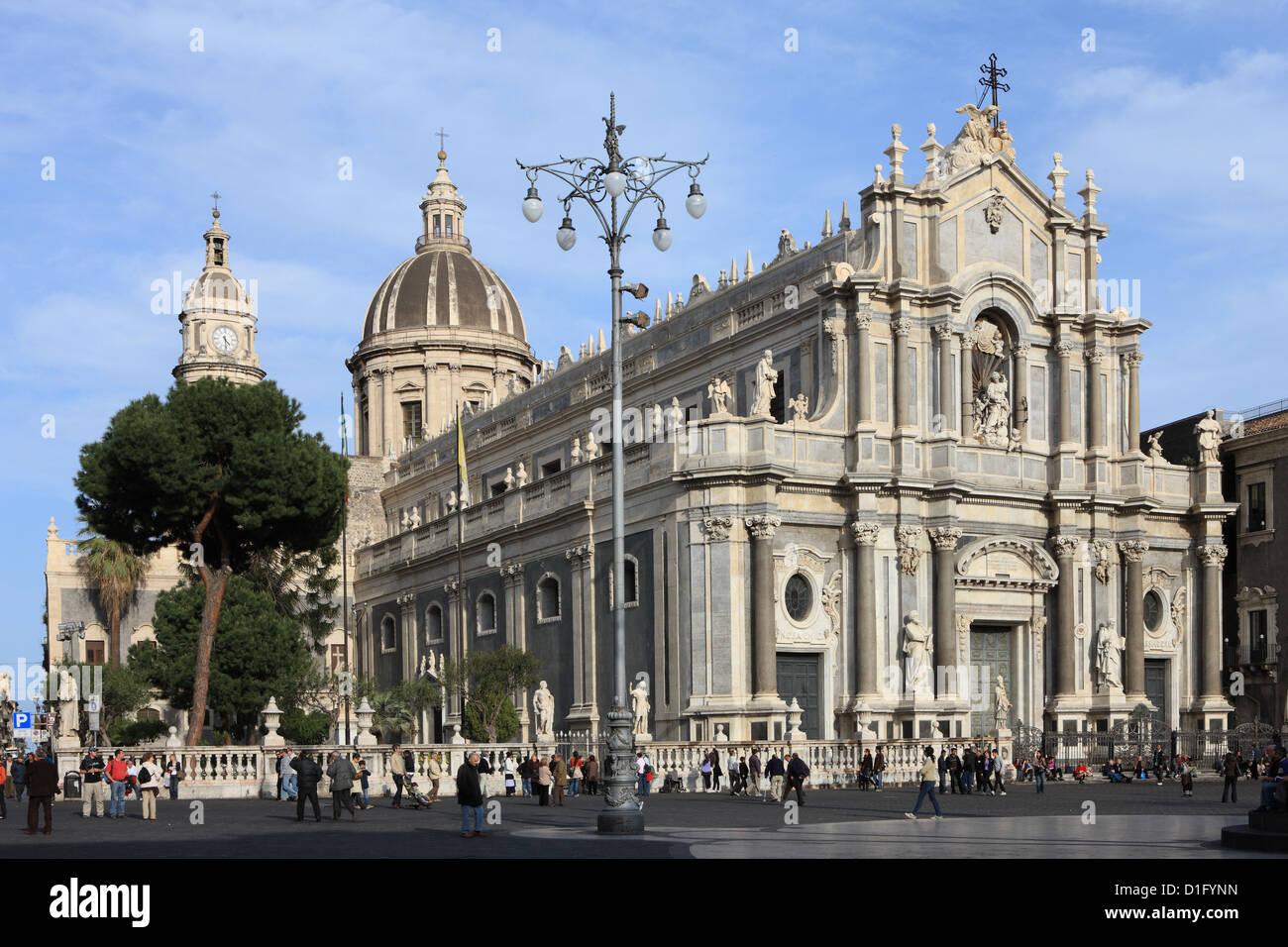 Dom, Catania, Sizilien, Italien, Europa Stockbild