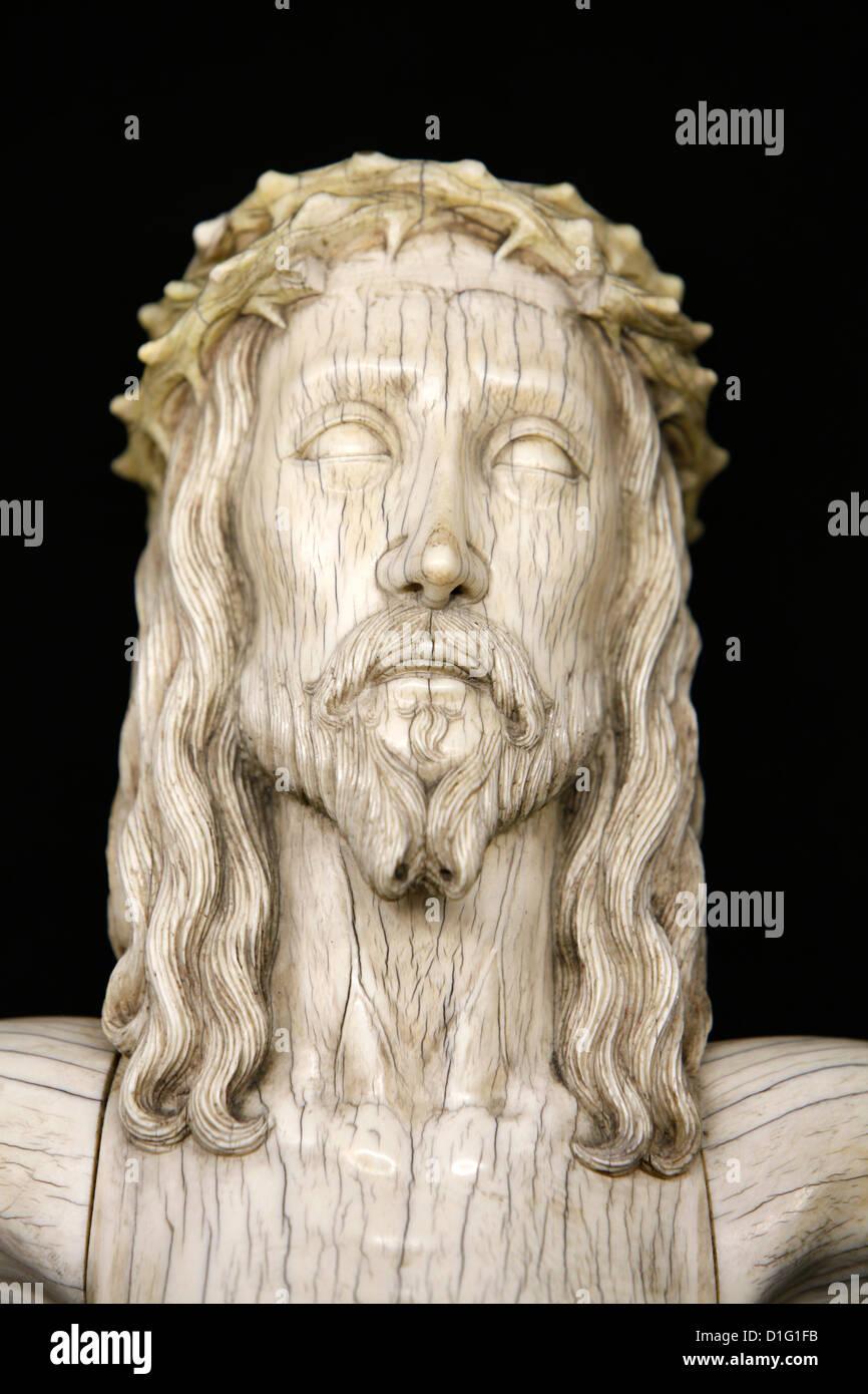 Christus-Skulptur in der Kathedrale von Notre-Dame de Paris Treasure Museum, Paris, Frankreich, Europa Stockfoto