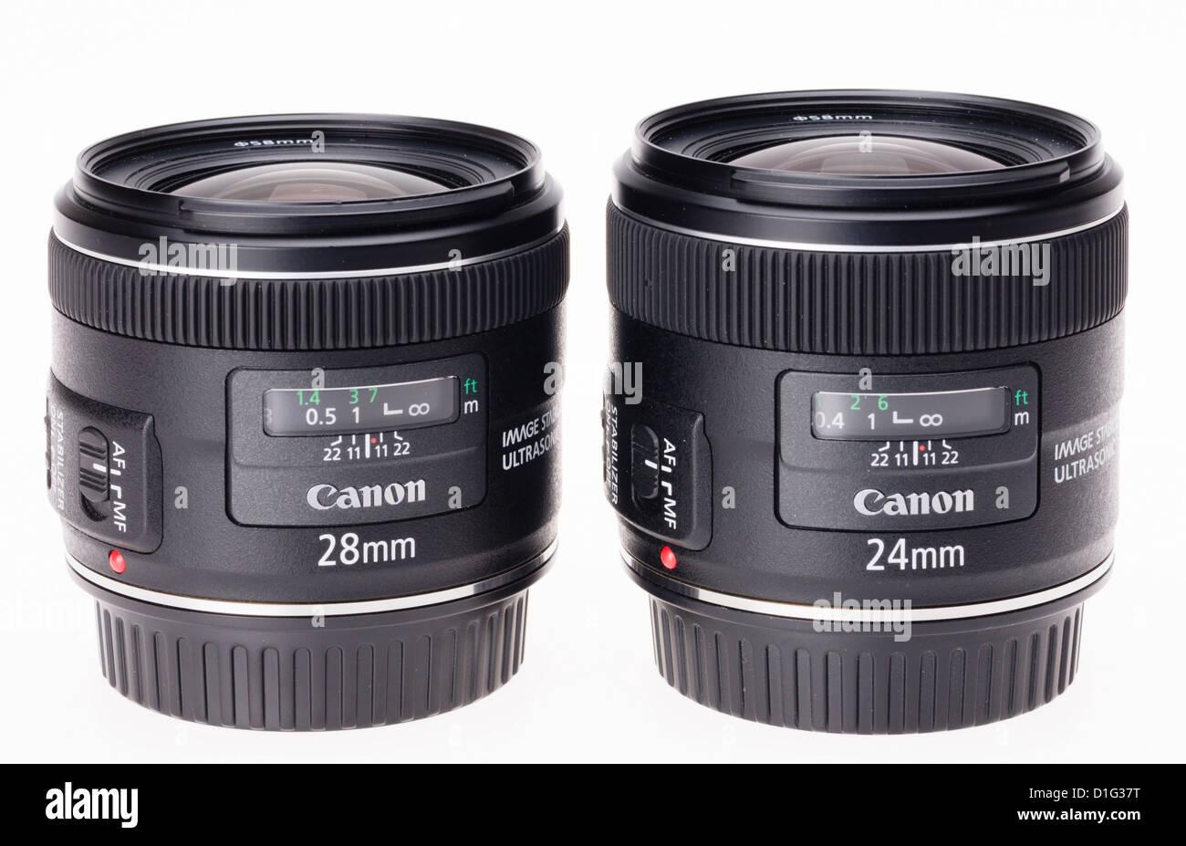 Fotoausrüstung - Weitwinkel-Objektive von Canon. 24mm und 28mm ...