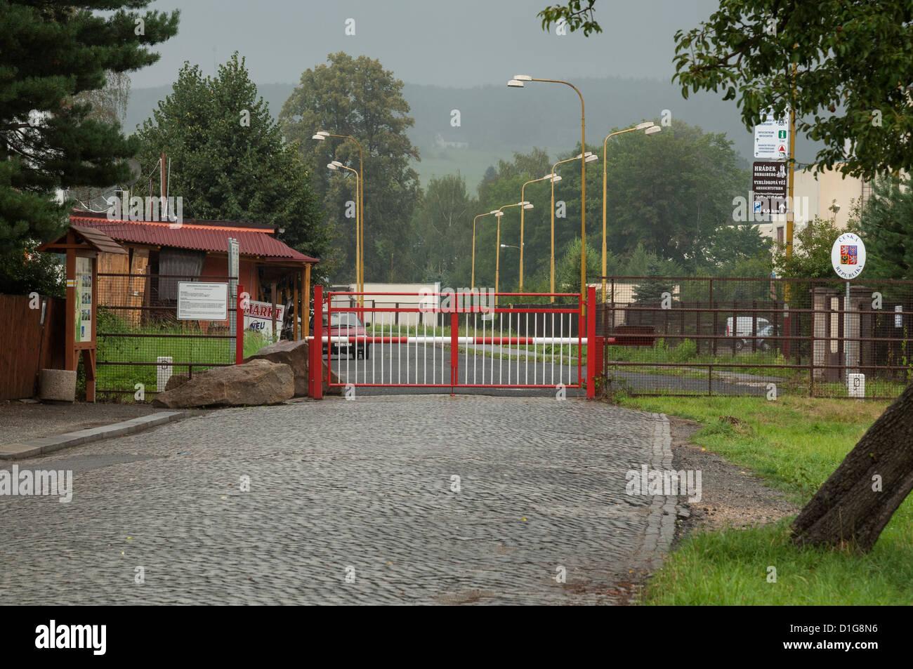 Tschechische Republik Deutschland Grenze Stockfotos Tschechische