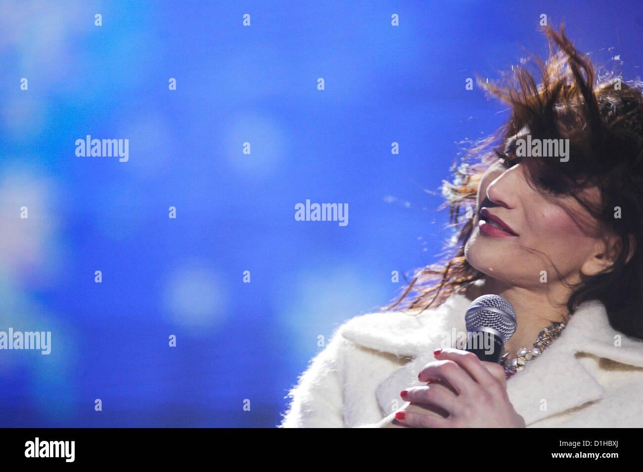 Danzig, Polen 22. Dezember 2012 Radio Plus und polnischen TVP1 Kanal ...