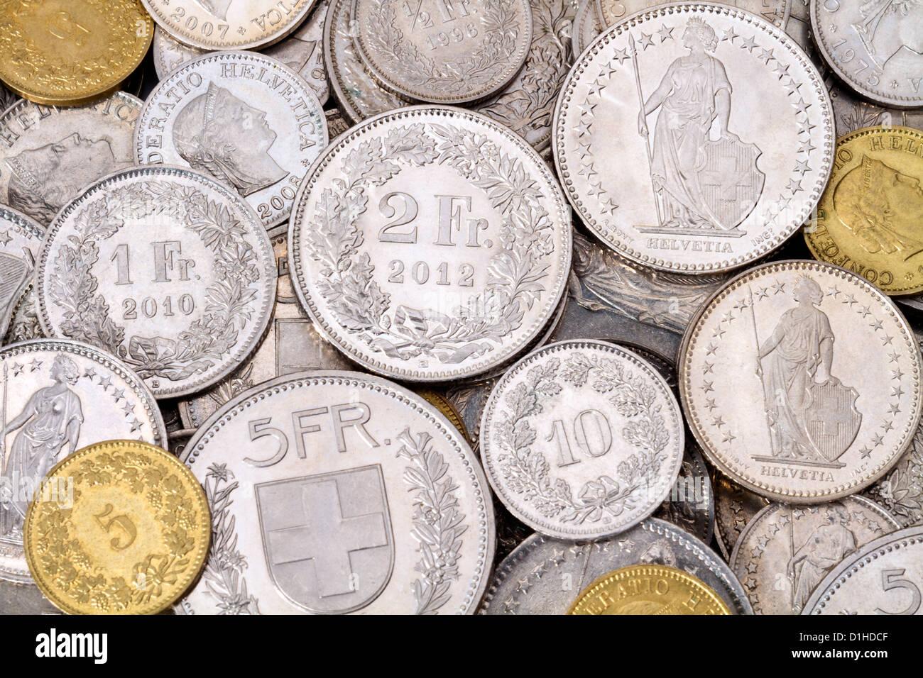 Ein Haufen Von Aktuellen Gesetzliches Zahlungsmittel Münzen