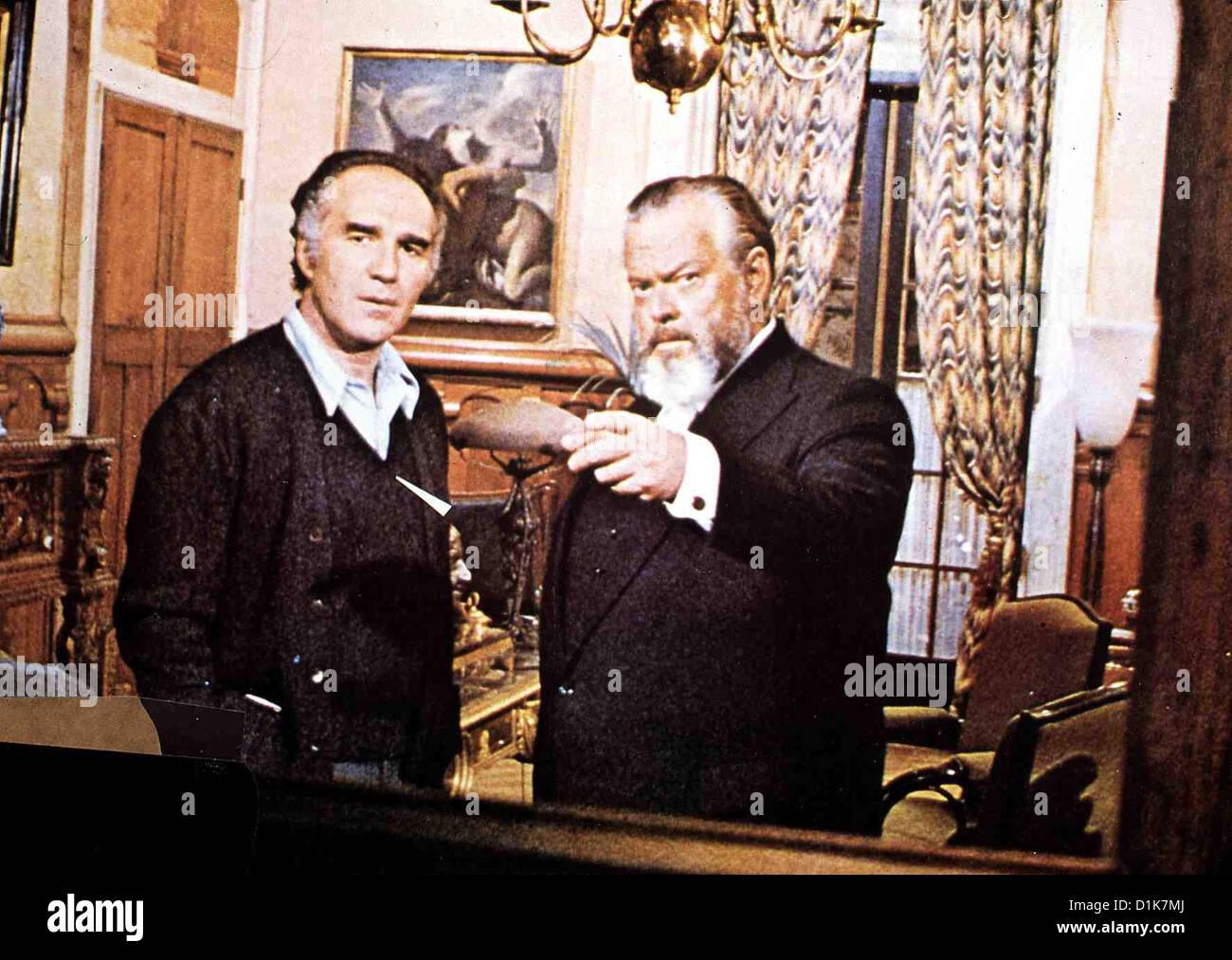 Der Zehnte Tag Jahrzehnt Prodigieuse, La Paul Regis (Michel Piccoli), Theo Van Horn (Orson Welles) *** lokalen Caption Stockbild