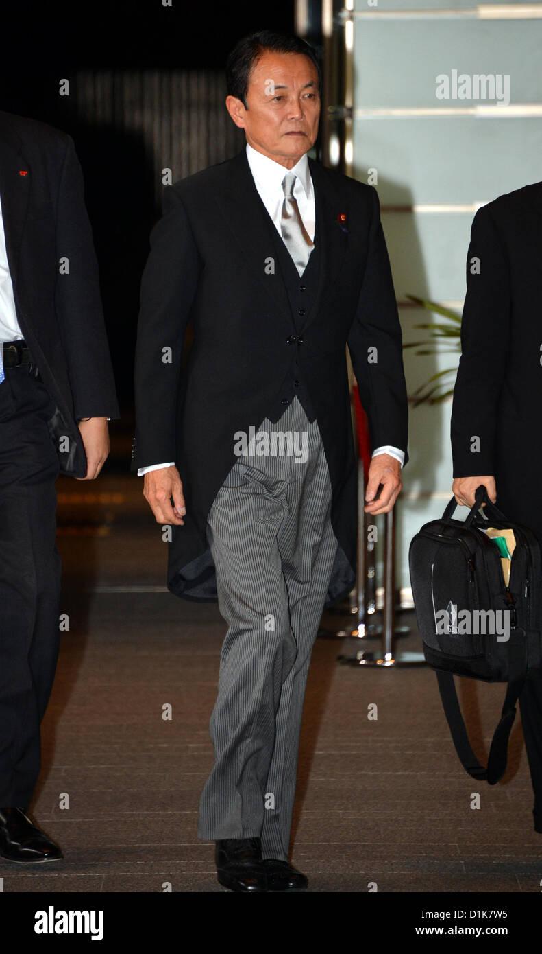 26. Dezember 2012, Tokyo, Japan - kommt neu ernannten Finanzminister ...