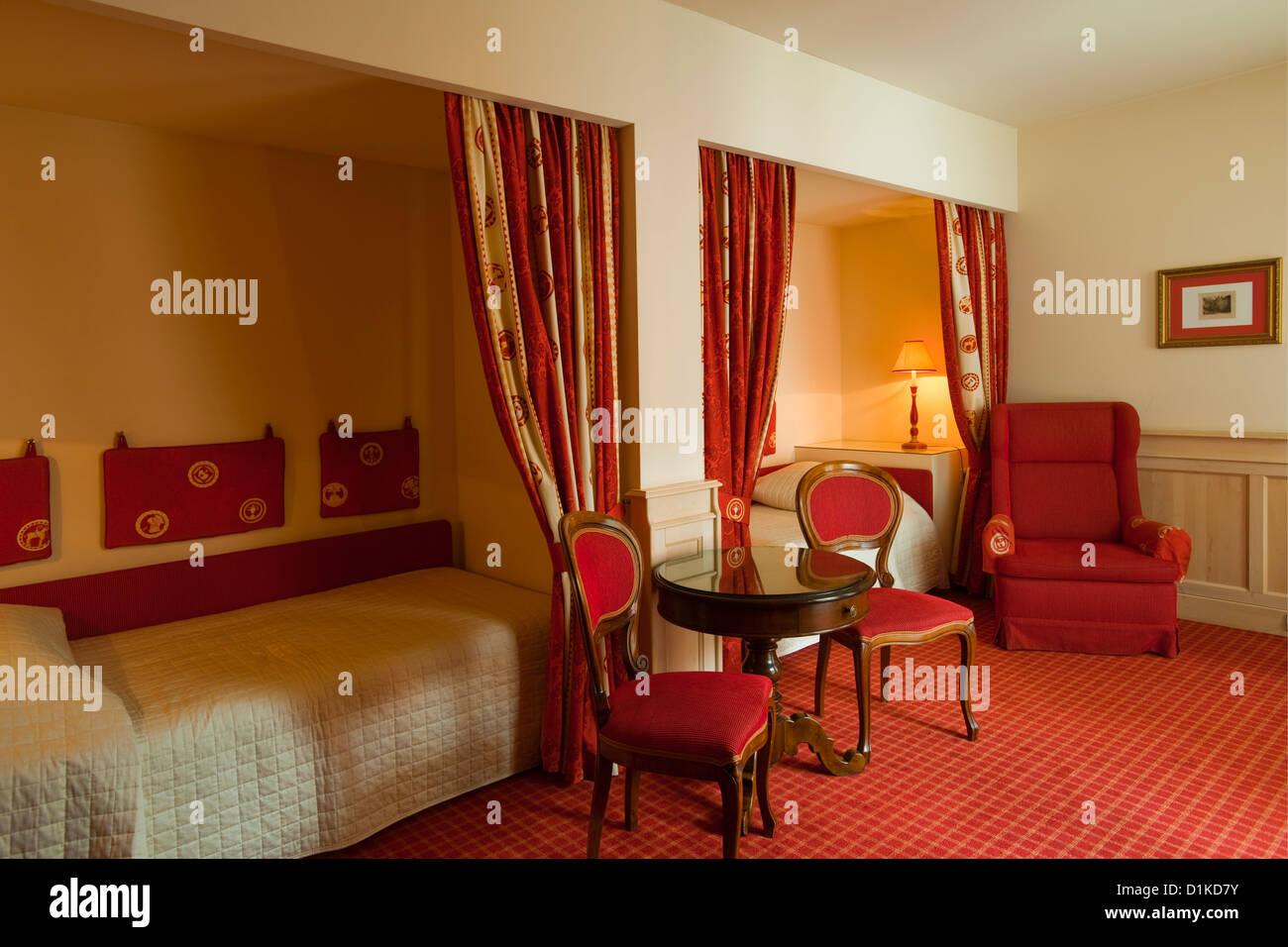 Österreich, Wien 1, schulerstrasse 10 Hotel König von Ungarn, Zimmer im historischen Teil des Hotels. Stockbild