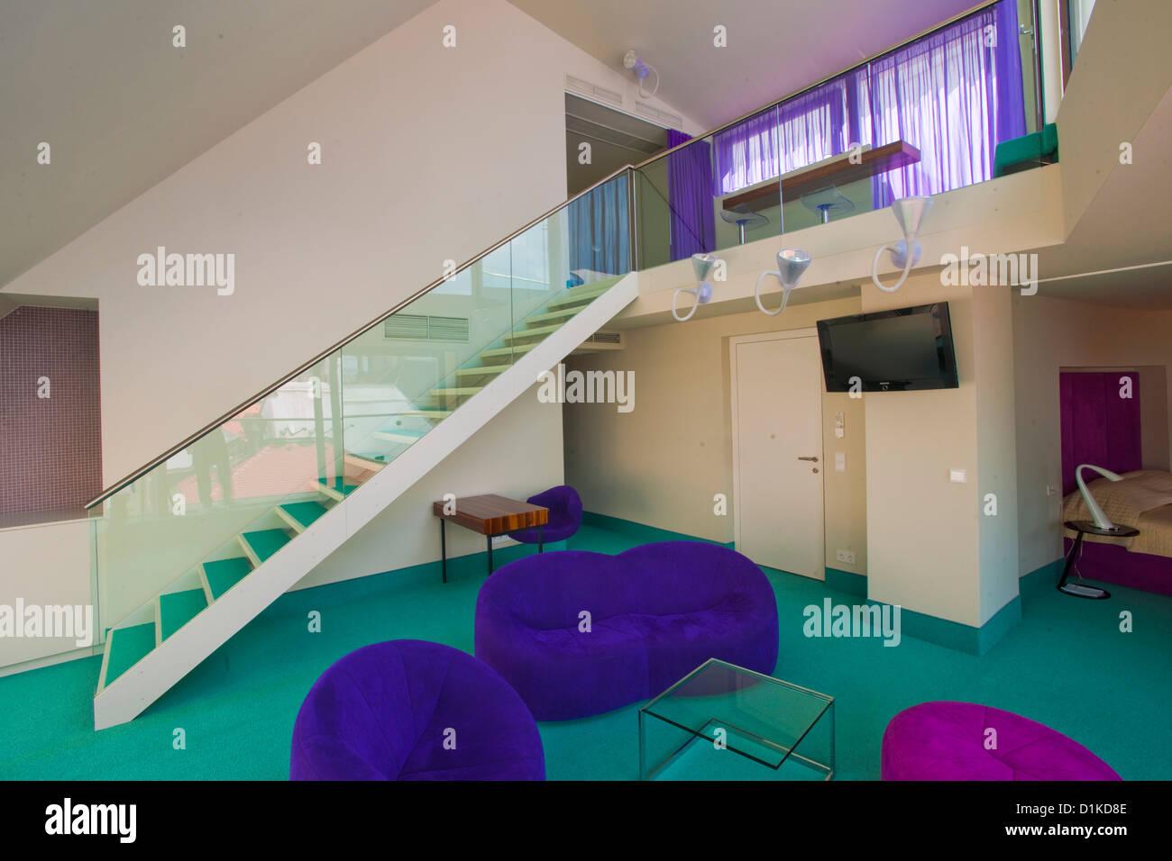 Österreich, Wien 1, schulerstrasse 10 Hotel König von Ungarn, im modernen Anbau, Desing-Suite im Maisonettestil Stockbild