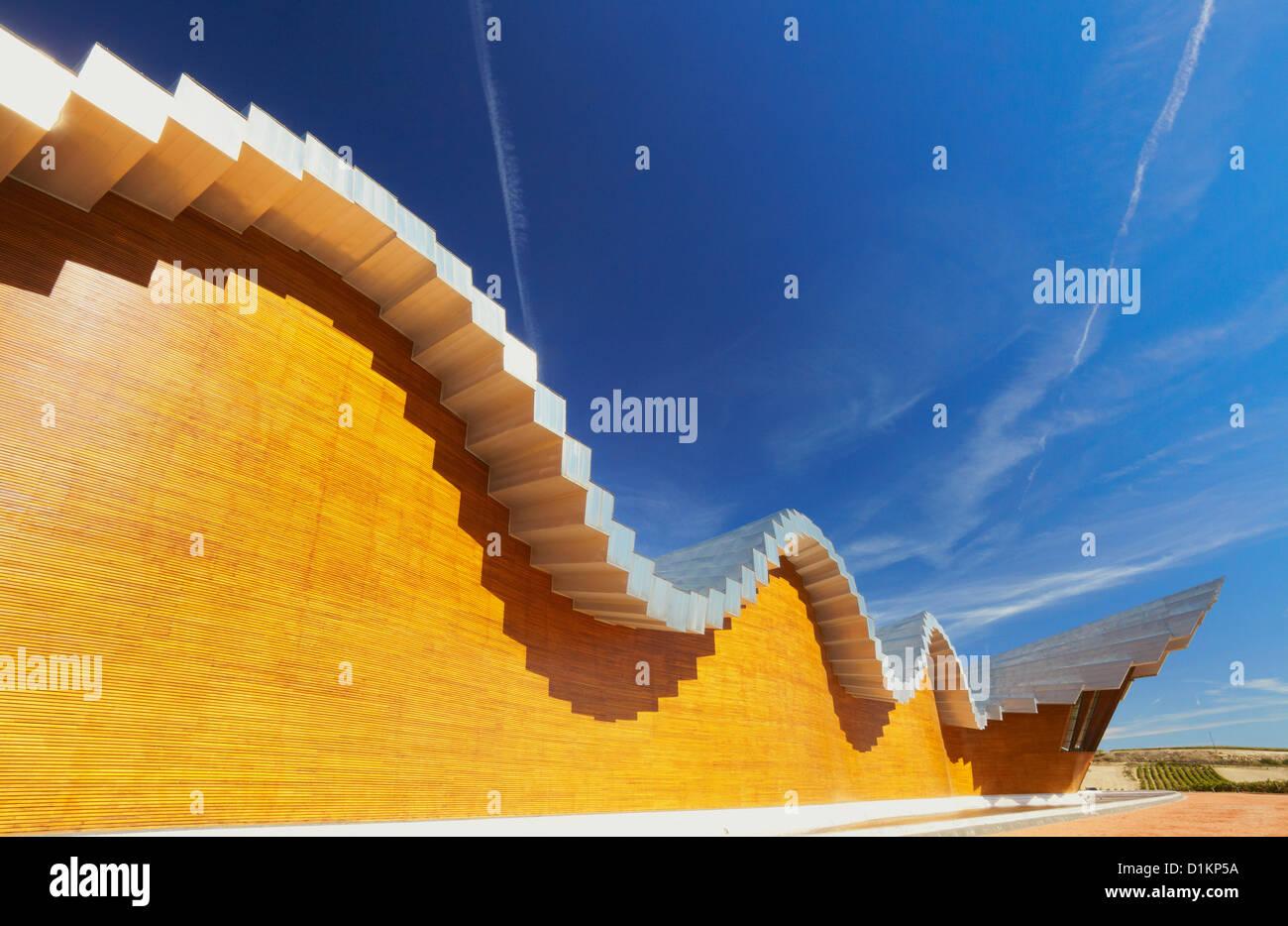 Ysios Weingut vom Architekten Santiago Calatrava. LaGuardia. Rioja Alavesa Wein Route. Alava. Baskisches Land. Spanien Stockbild