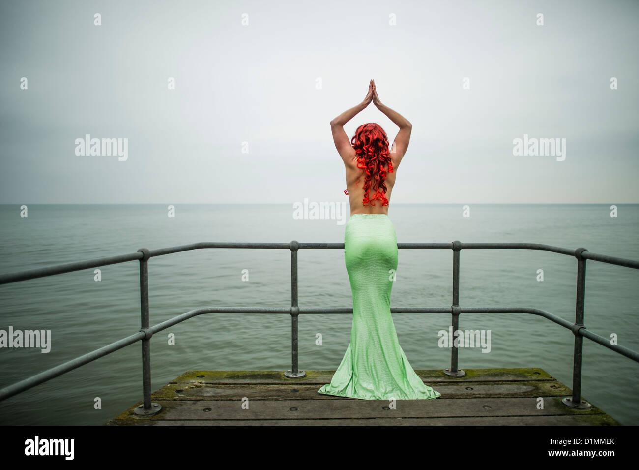 Meerjungfrau kleid tanzen