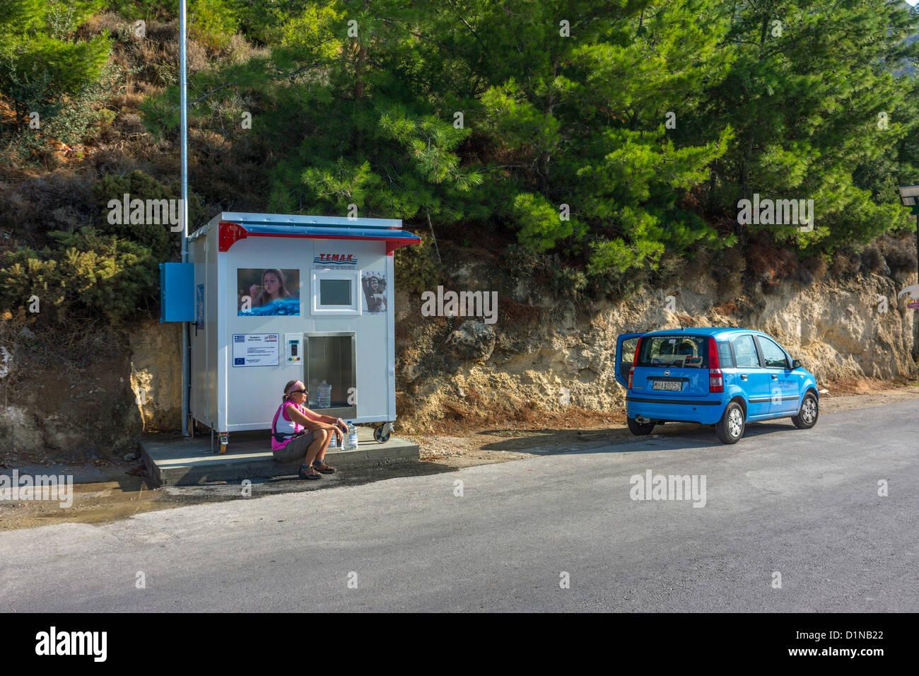 Neu installierte Wasserversorgung, Kalymnos, Griechenland. Stockfoto