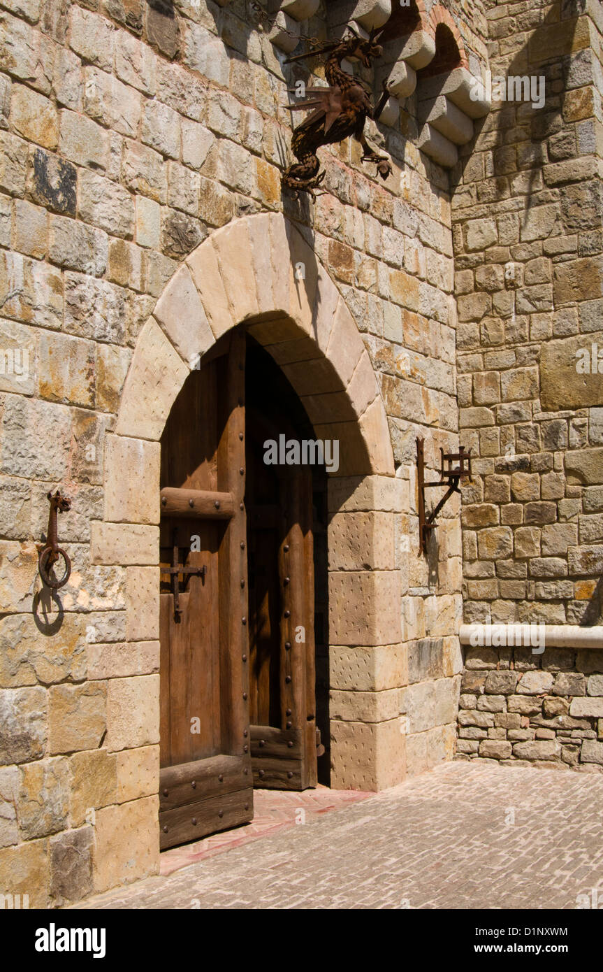 Castle Door Castello Di Amorosa Stockfotos & Castle Door Castello Di ...